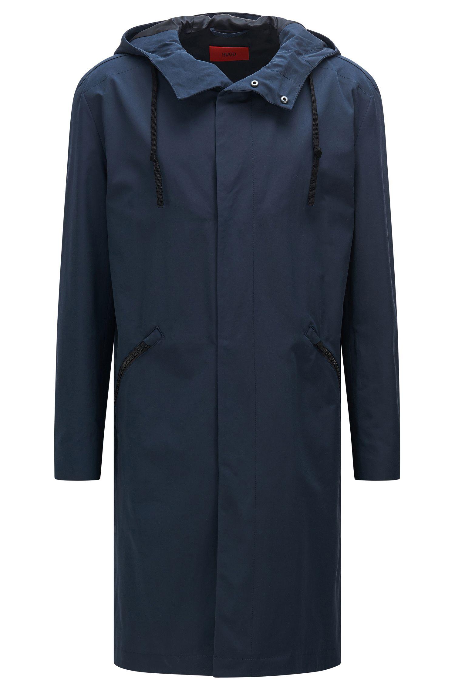 Abrigo impermeable en mezcla de materiales con algodón: 'Menjon'