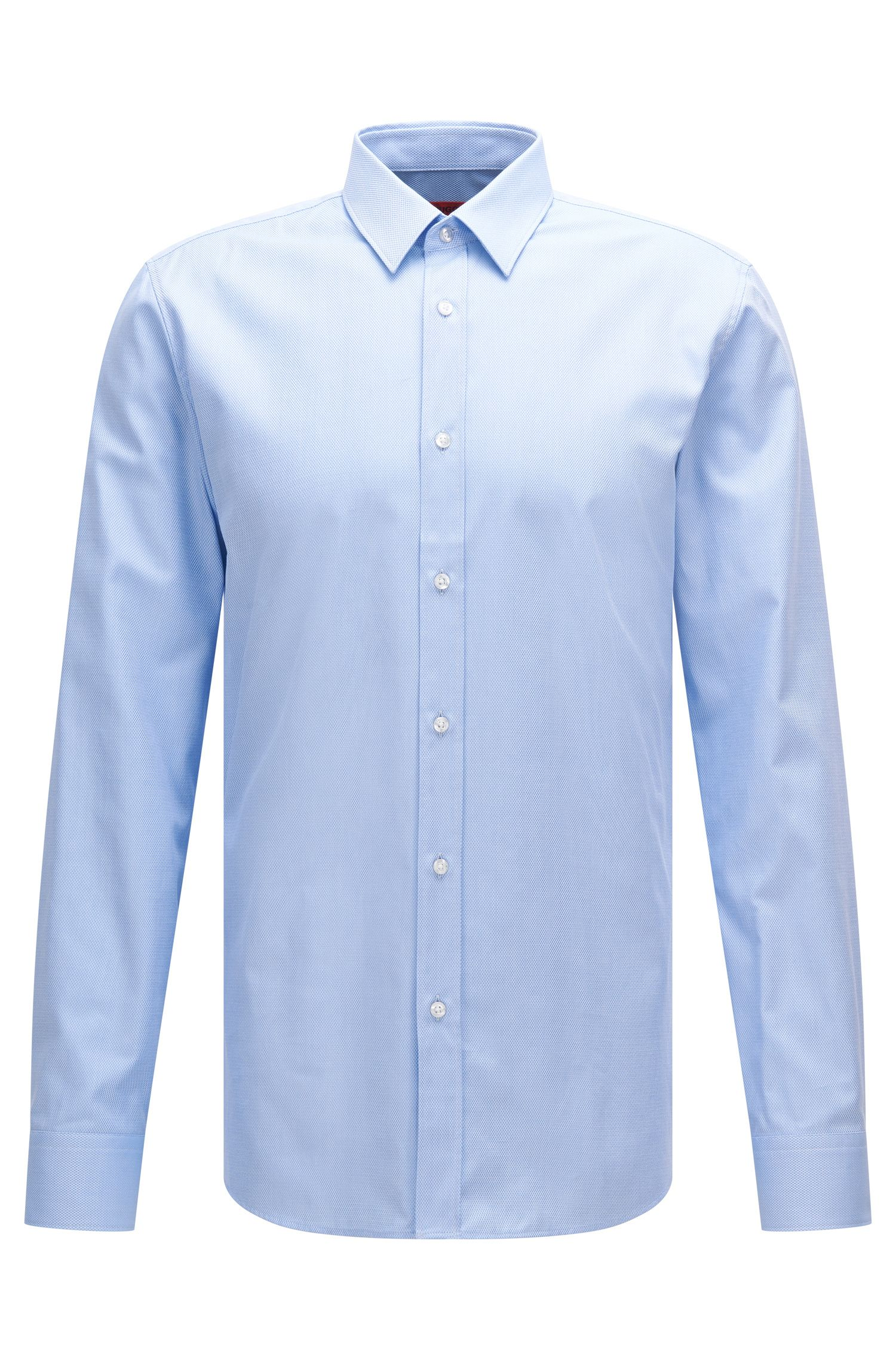 Extra slim-fit shirt in textured cotton: 'Elisha'