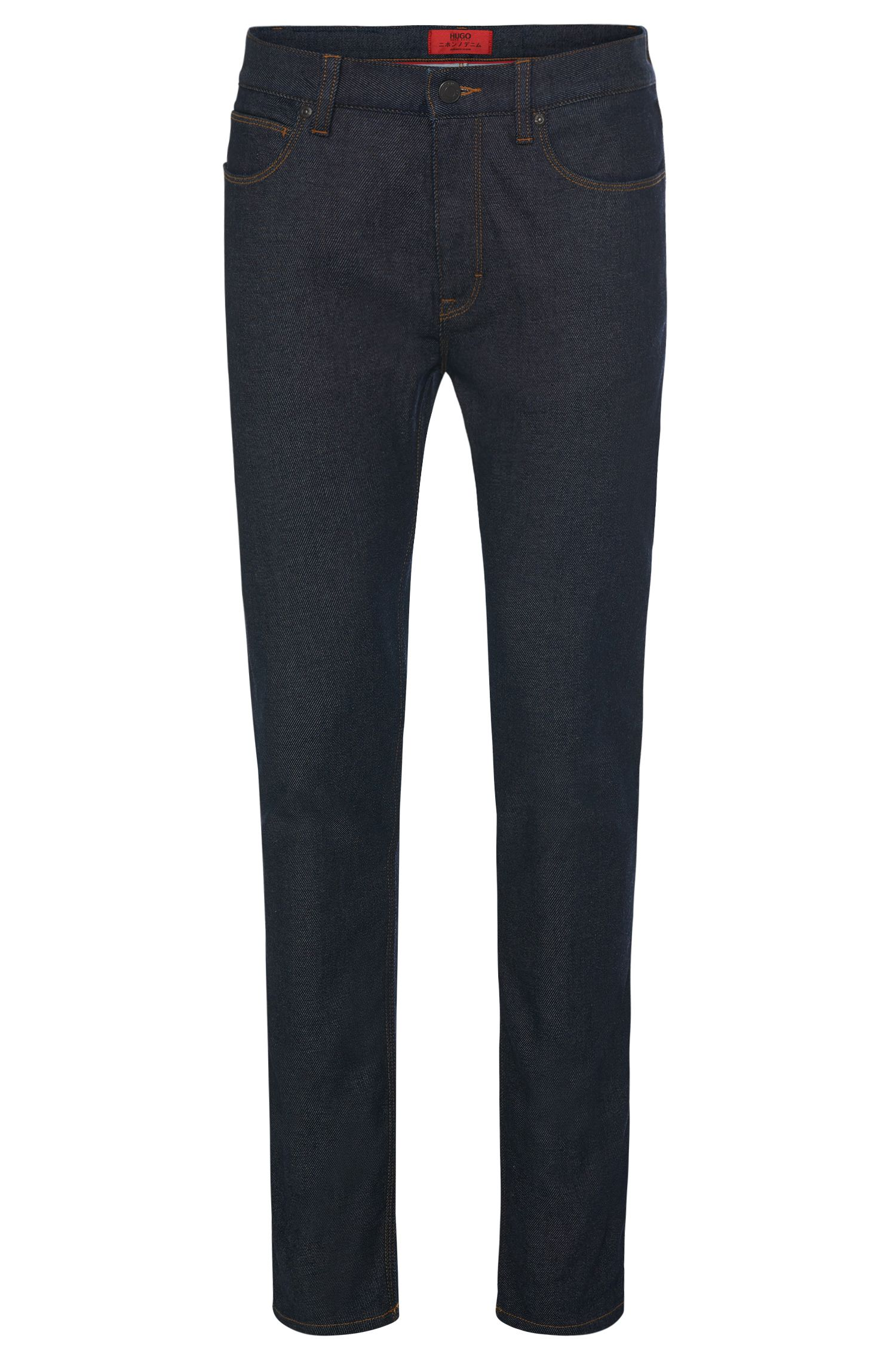 Skinny-fit jeans in cotton blend in a rinsed look: 'HUGO 734'