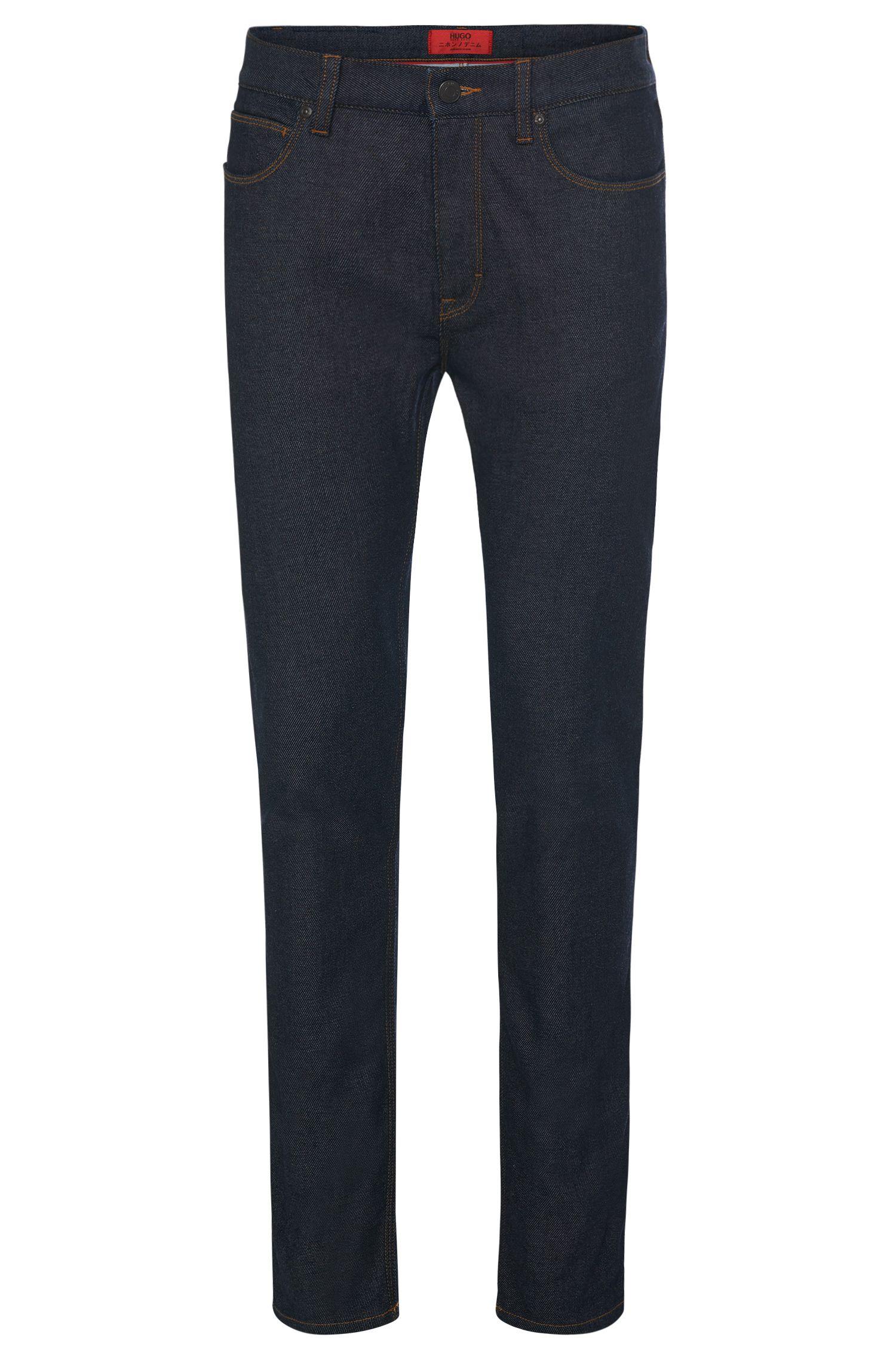 Skinny-fit jeans van een katoenmix in rinsed-look: 'HUGO 734'