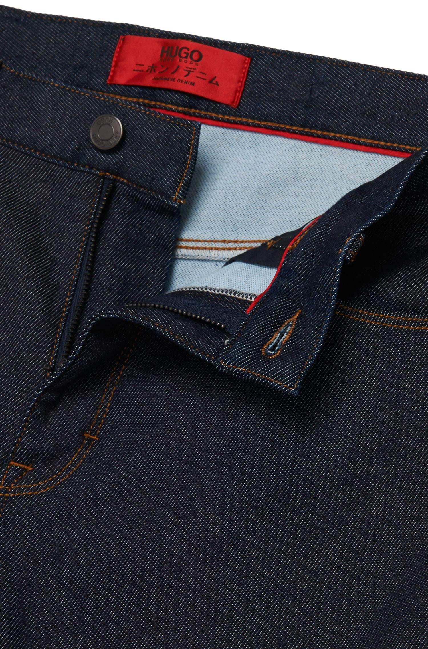 Skinny-Fit Jeans aus Baumwoll-Mix in Rinsed-Optik: 'HUGO 734'