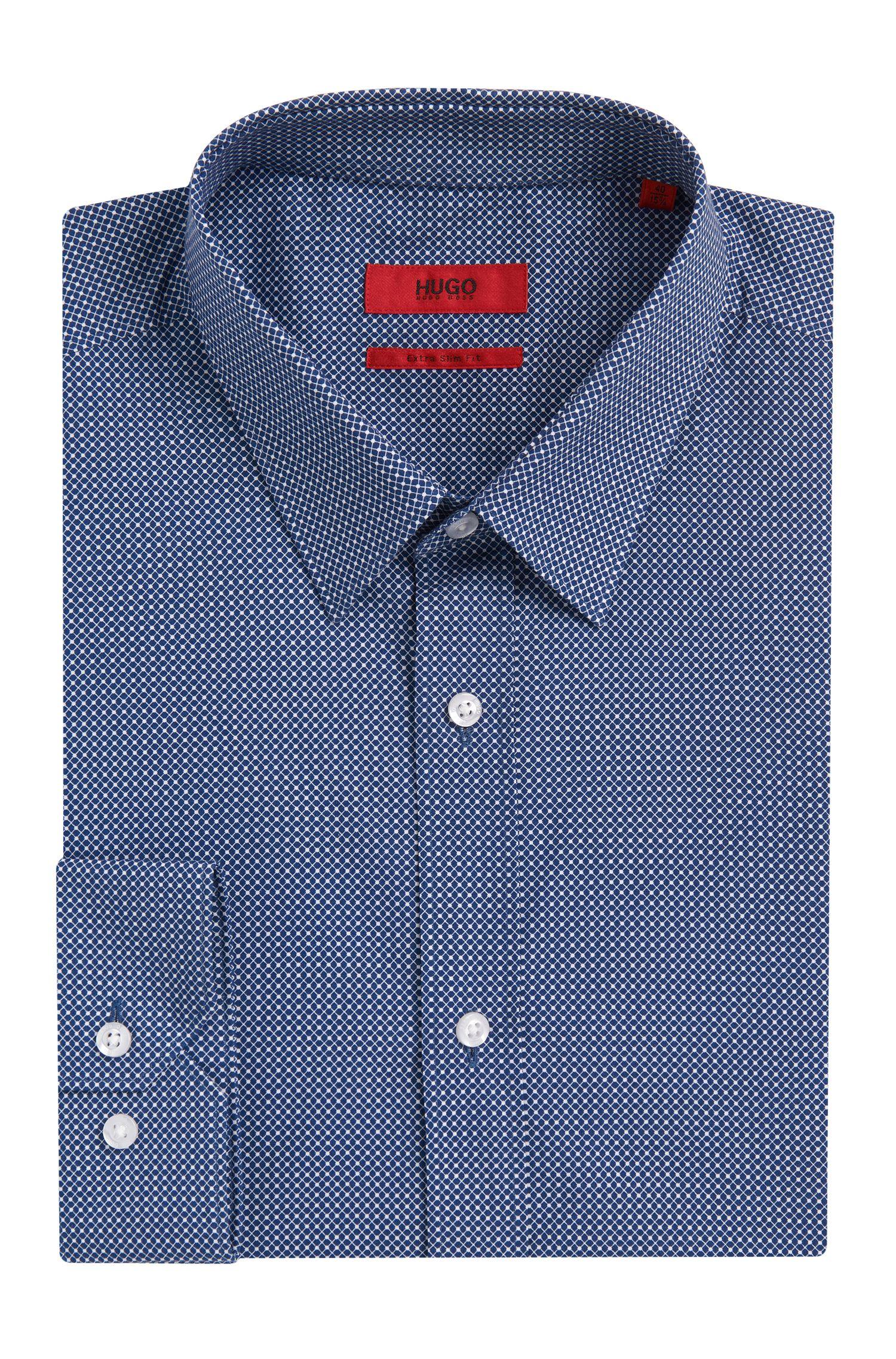 Fein gemustertes Extra Slim-Fit Hemd aus Baumwolle: 'Elisha'