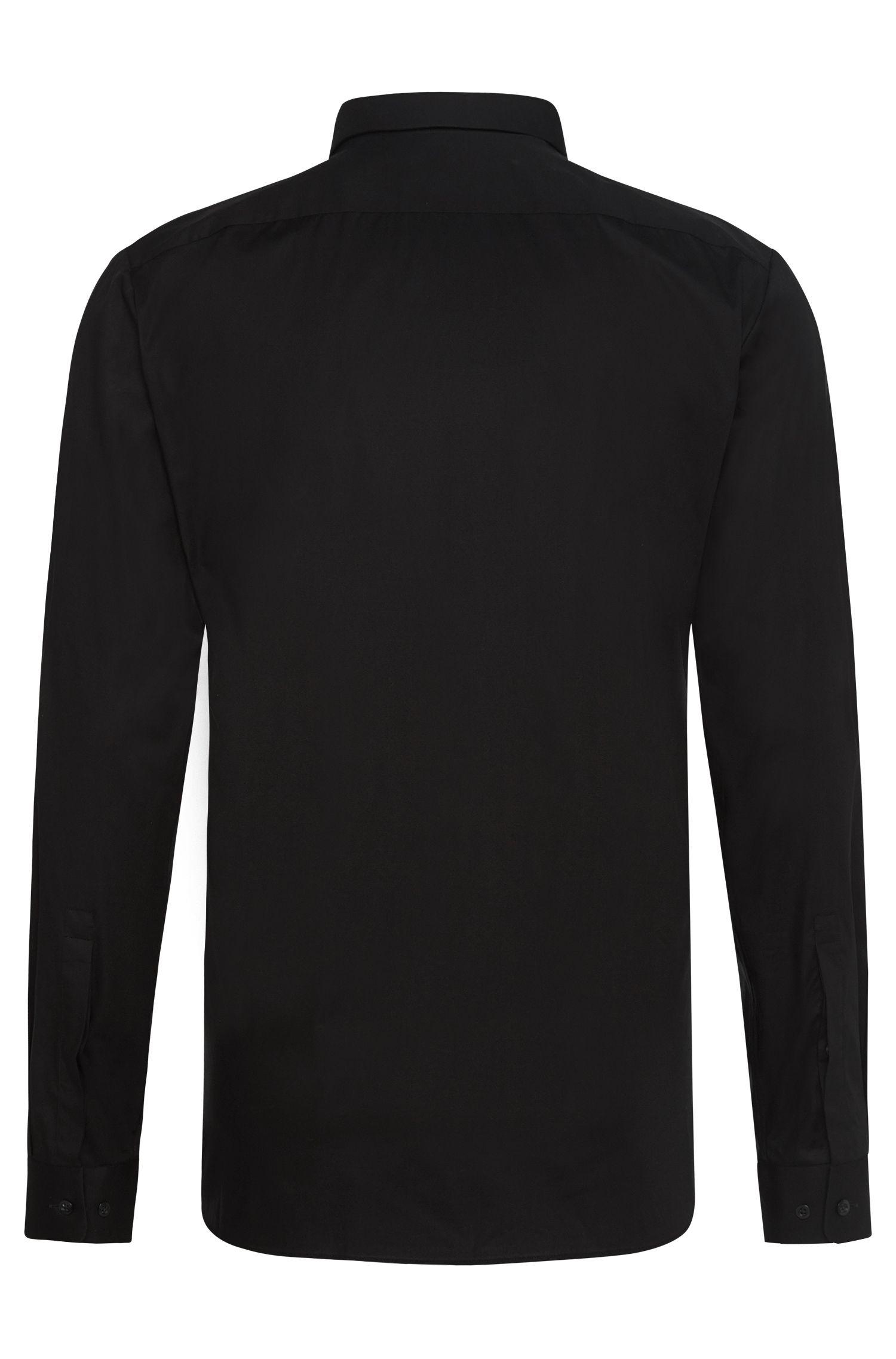Extra Slim-Fit Hemd aus Stretch-Baumwolle mit verdeckter Knopfleiste: 'Ebros'
