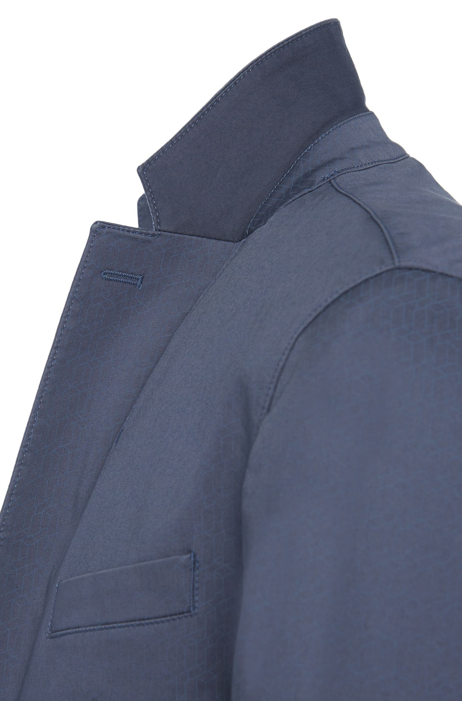 Veste de costume Slim Fit en coton stretch à motif: «Norvid-W»