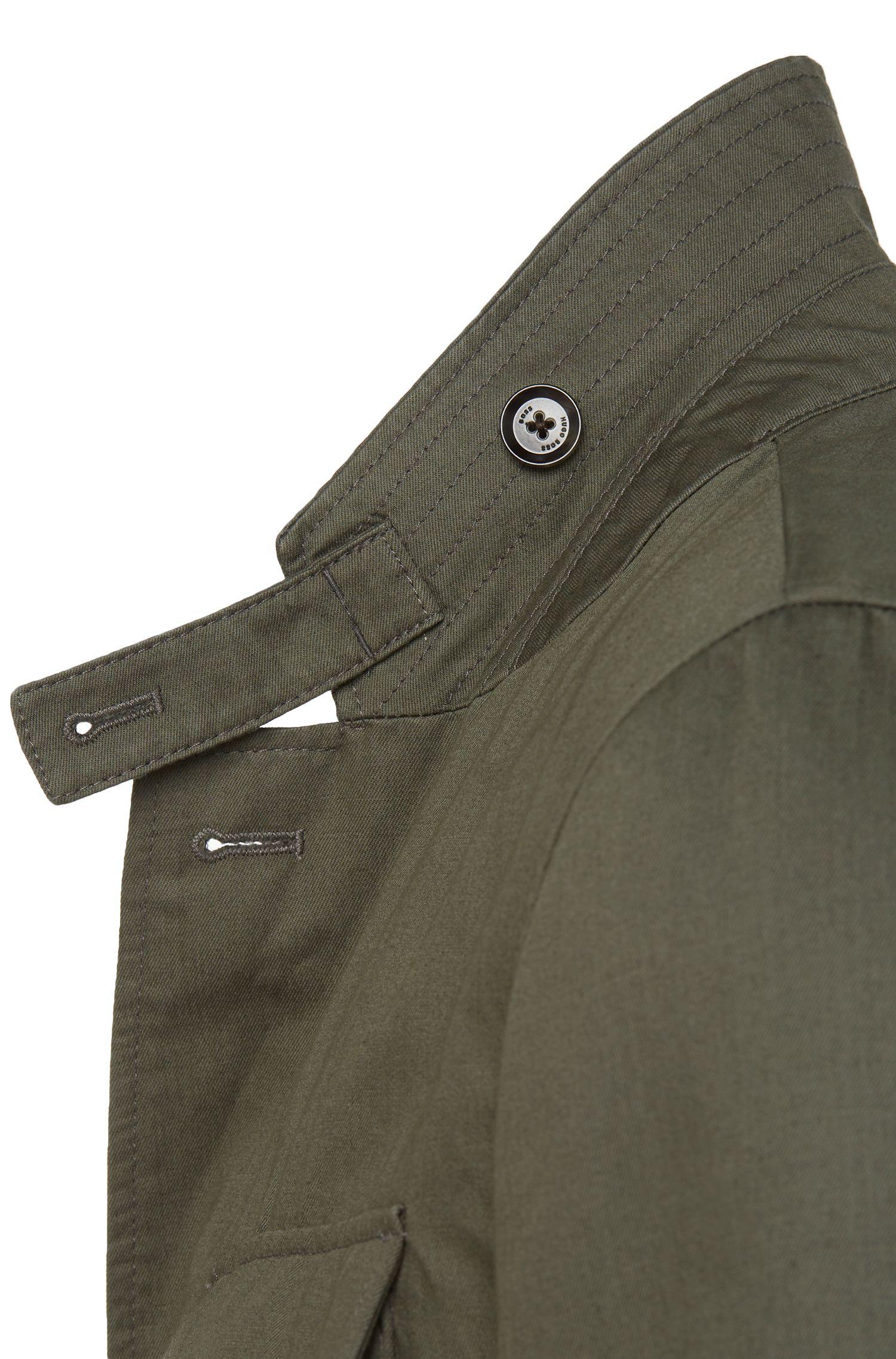 Veste de costume en coton mélangé à teneur en lin, au design militaire: «Nelio-W»