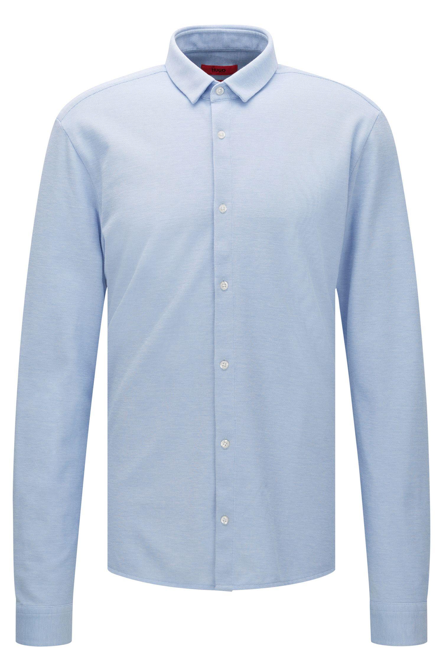 Extra slim-fit shirt in cotton piqué: 'Ero3'