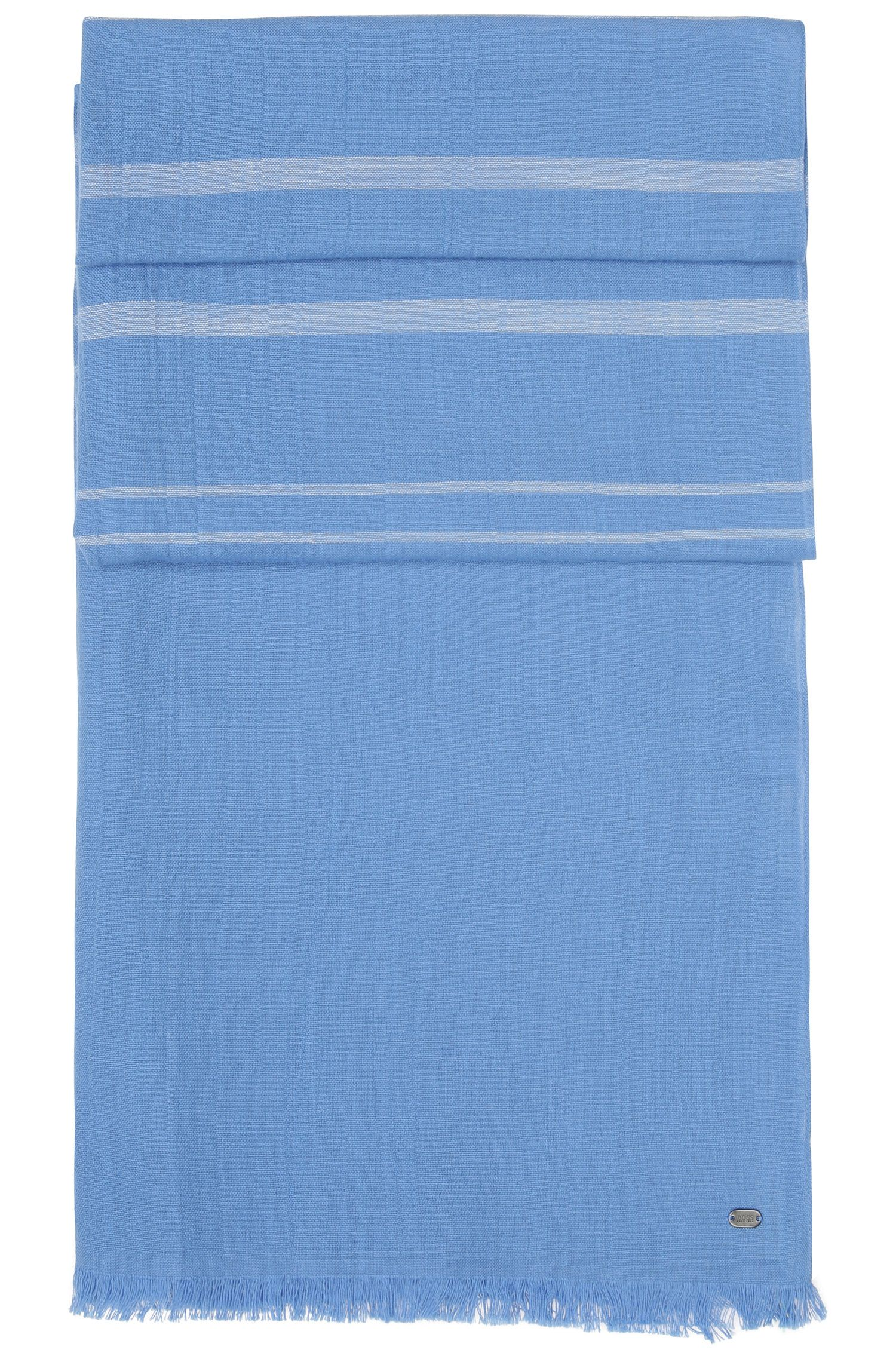 Écharpe rayée et chinée en coton doux: «Scarf-Melange»