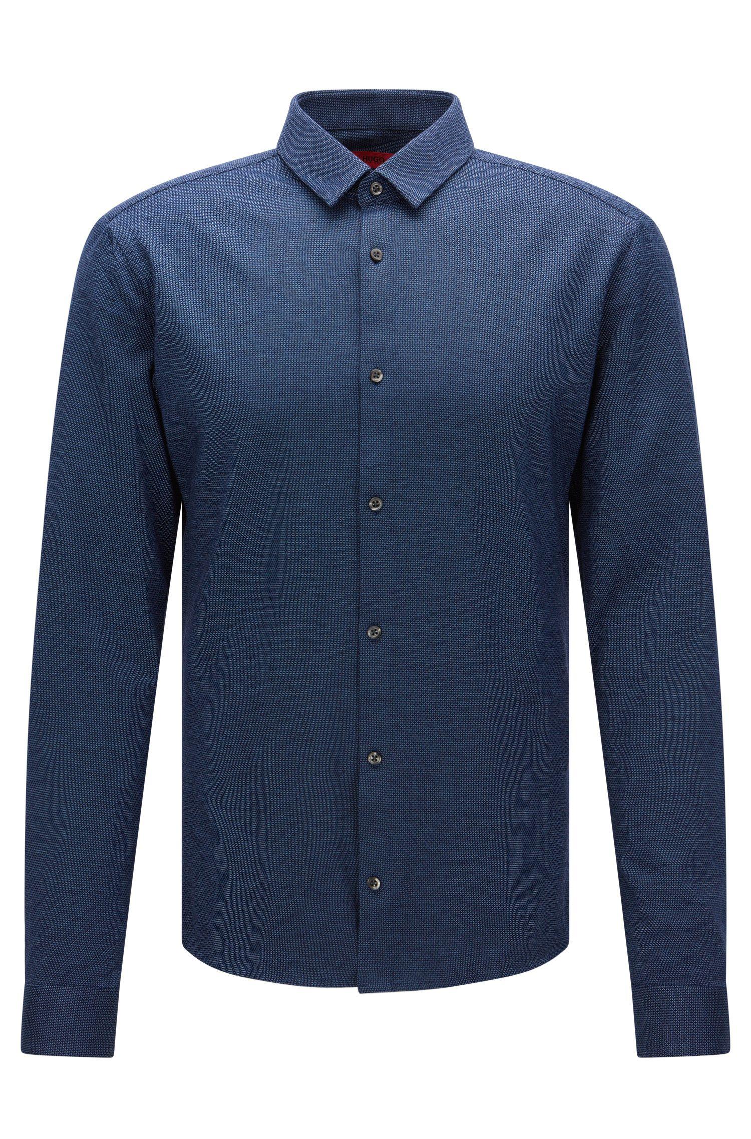 Fein gemustertes Extra Slim-Fit Hemd aus Baumwolle: 'Ero3'
