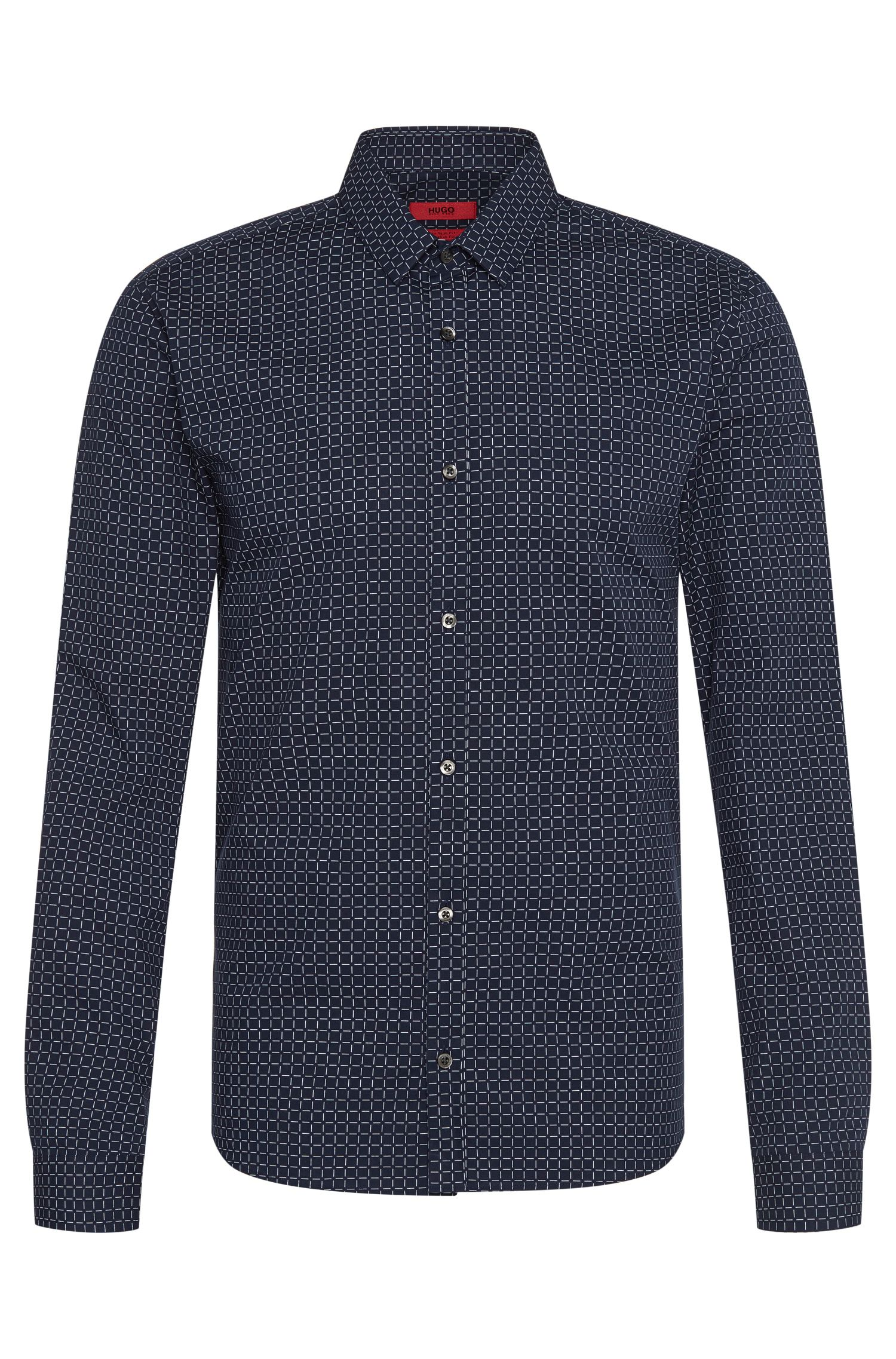 Checked extra slim-fit shirt in cotton: 'Ero3'