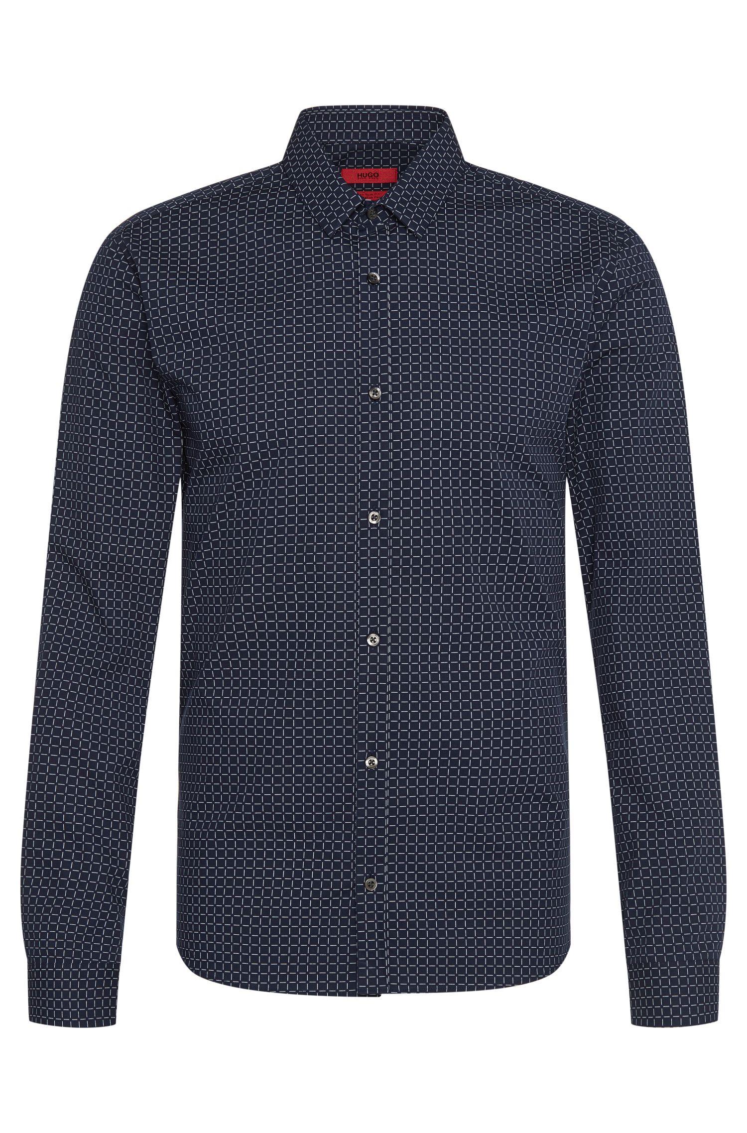 Kariertes Extra Slim-Fit Hemd aus Baumwolle: 'Ero3'