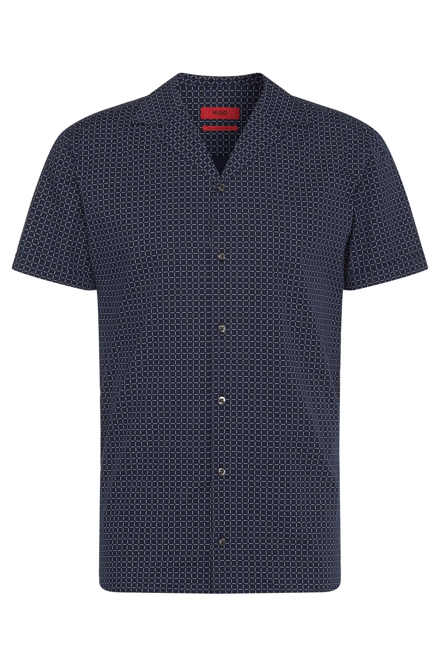 Patterned relaxed-fit shirt in pure cotton: 'Endo'