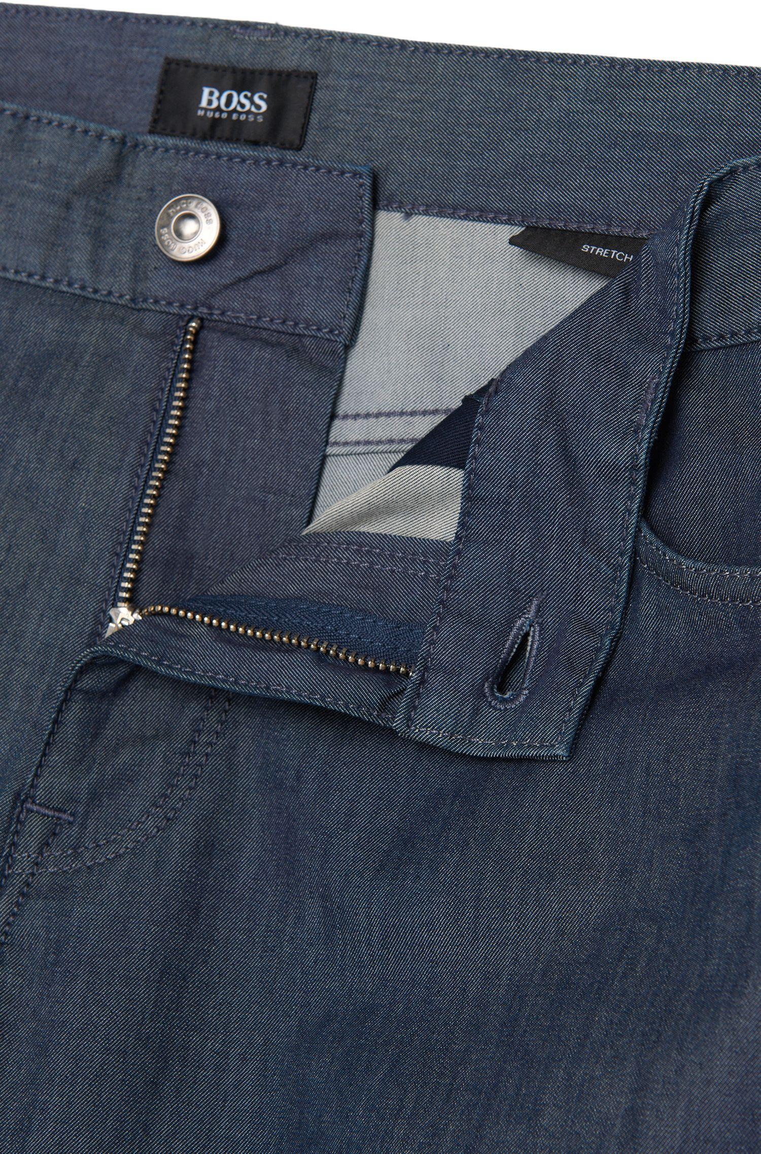 Jeans Regular Fit en coton extensible à effet délavé: «Maine3»