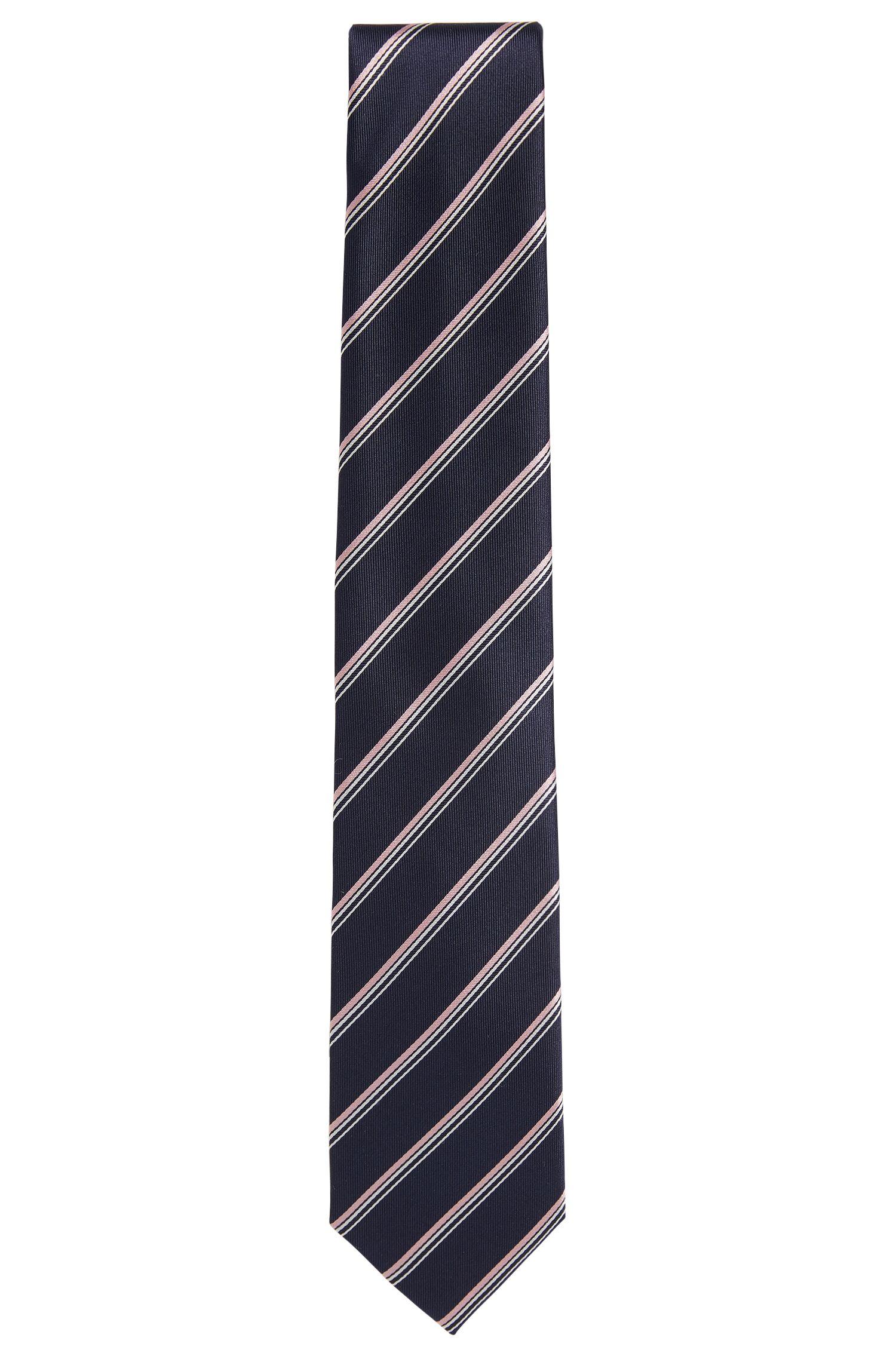Gemusterte Krawatte aus Seide: 'Tie 7,5 cm'
