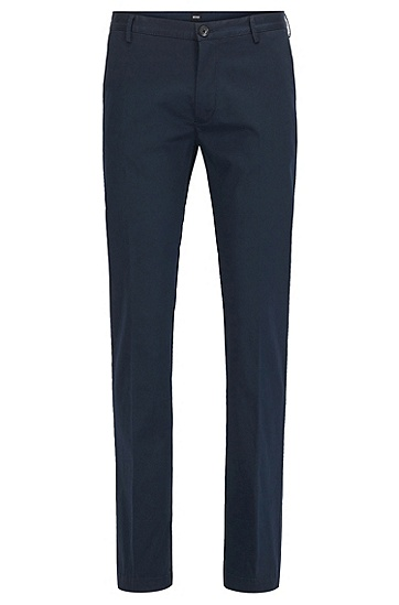 丝光弹力棉修身版斜纹裤,  410_海军蓝色