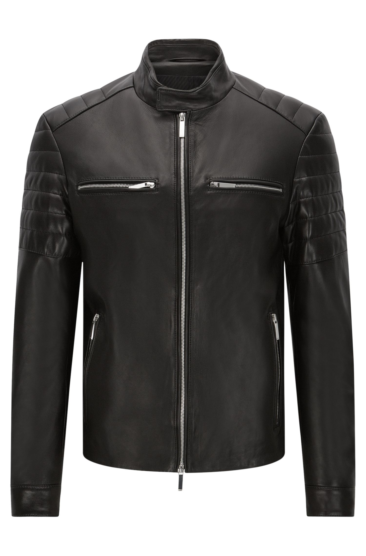 Biker-style leather jacket: 'Norwyn' from the Mercedes-Benz Collection
