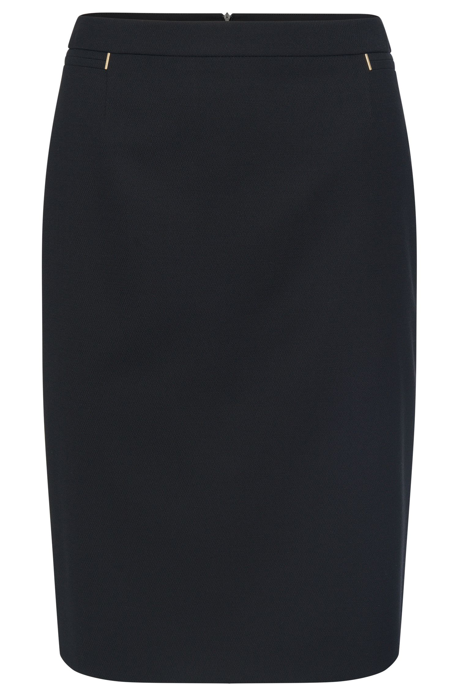 Finely textured pencil skirt in stretchy new wool: 'Vimondi'
