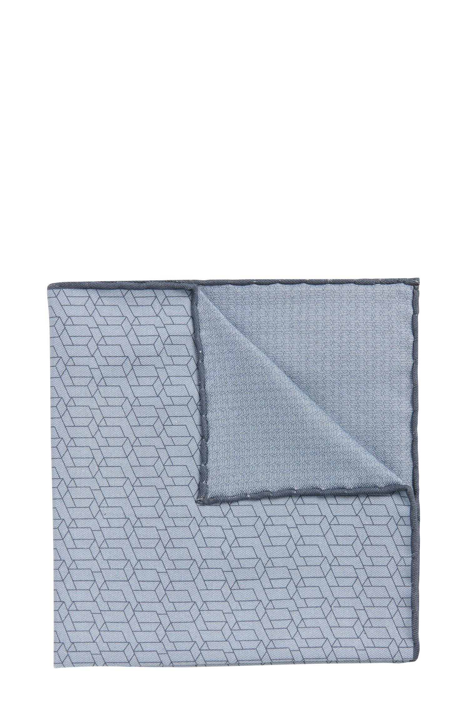 Tailored pocket square in a silk blend with cotton: 'T-Pocket sq. 33x33 cm'