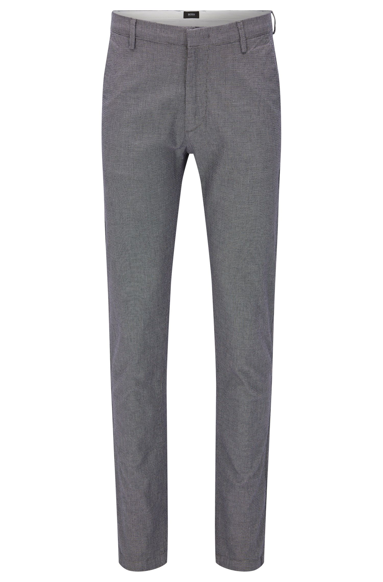 Slim-fit chinos in textured stretch cotton: 'Rice3-1-W'