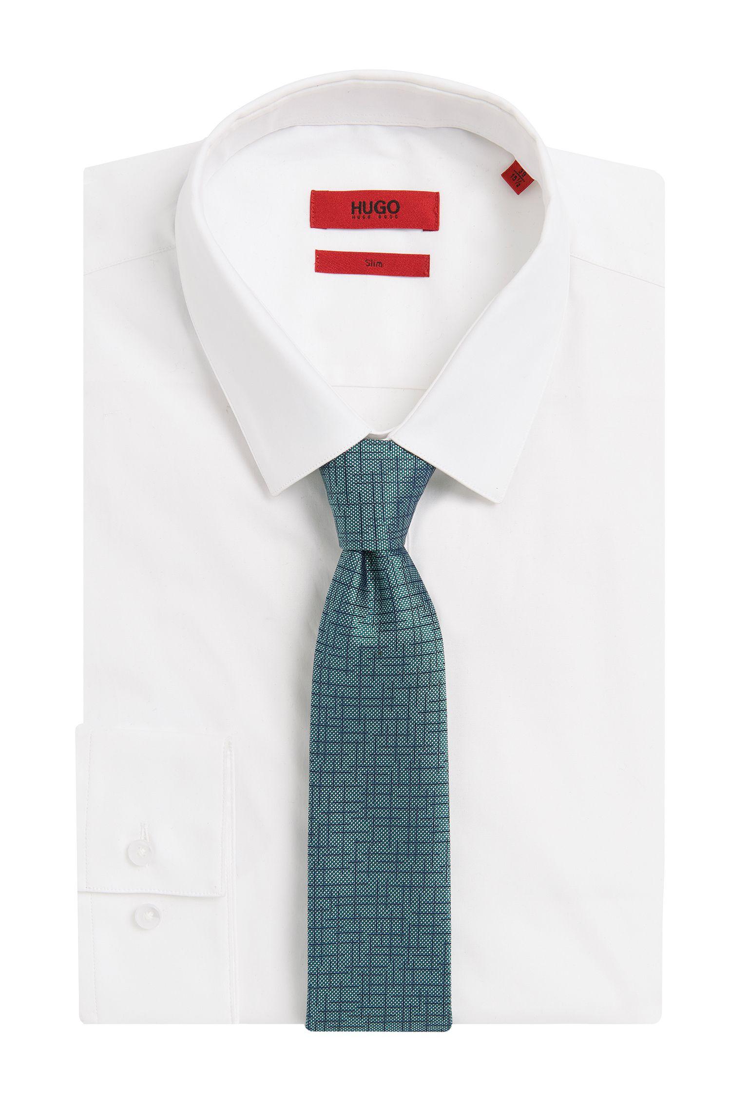 Stropdas van zijde met dessin: 'Tie 6cm'