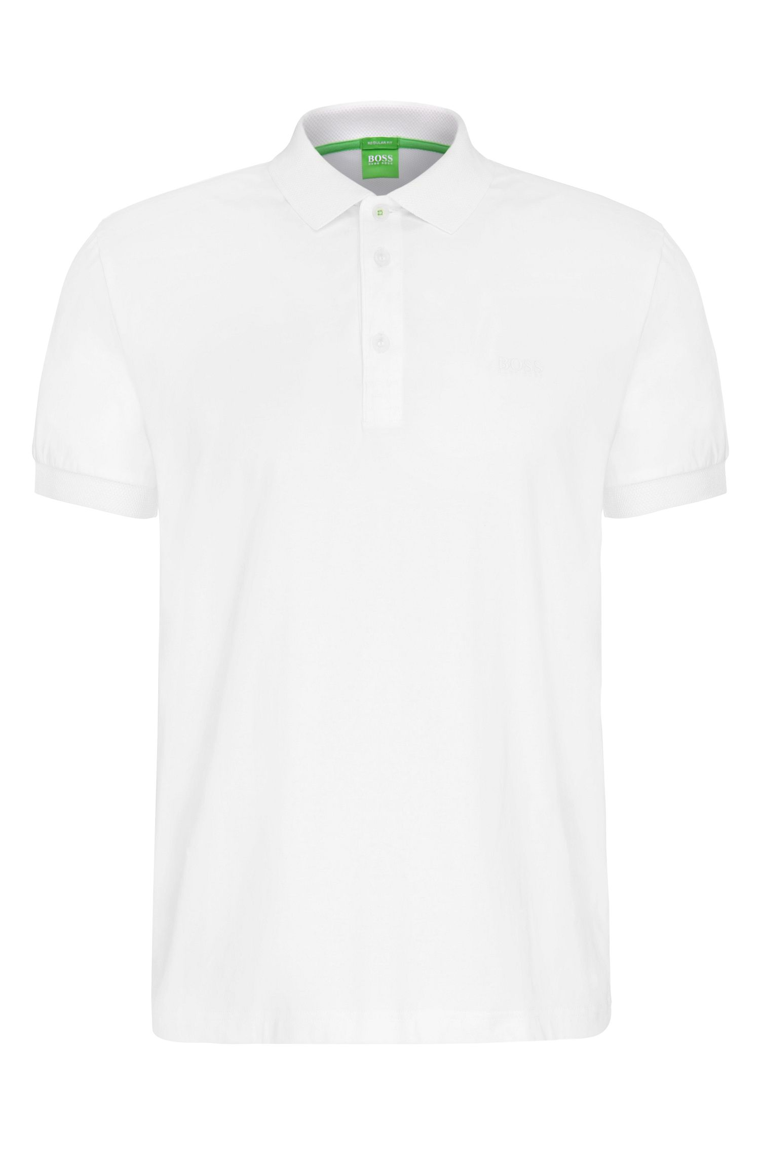 Regular-fit polo shirt in stretchy cotton: 'Paddy 2'