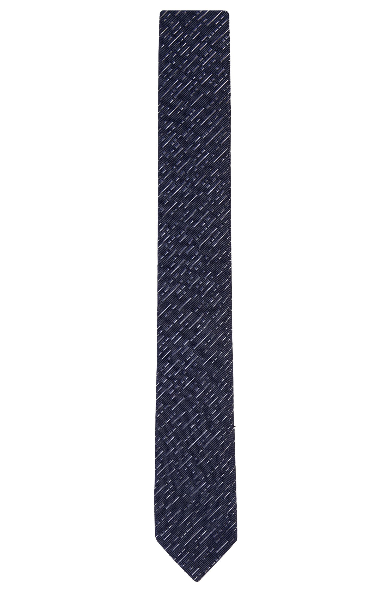 Patterned tie in cotton blend with silk: 'Tie 6 cm'