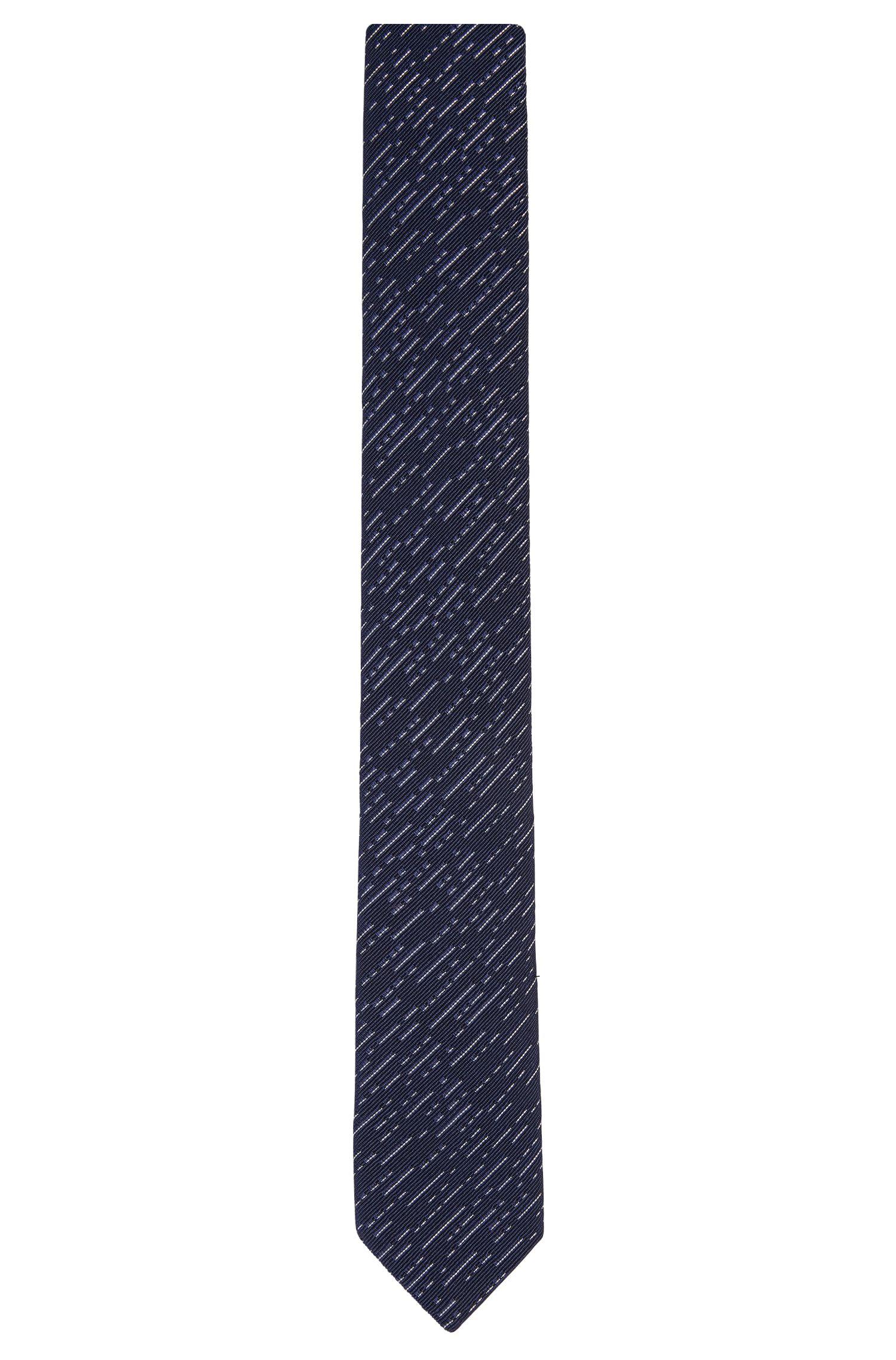 Stropdas met dessin, van een katoenmix met zijde: 'Tie 6cm'