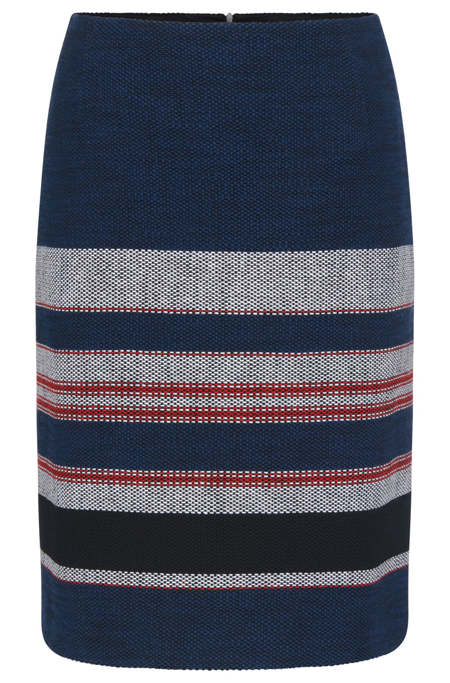 Slightly flared skirt in stretchy cotton blend: 'Vetina'