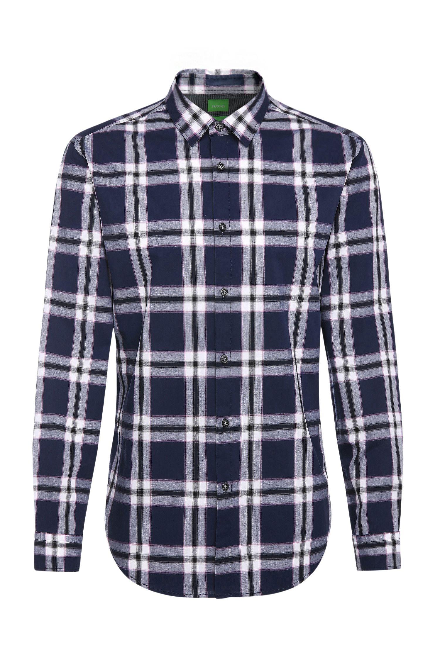 Regular-fit overhemd met tartandessin: 'C-Bopaz'