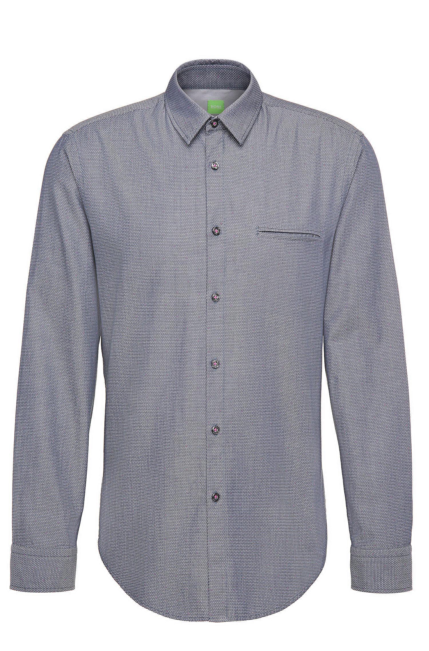 Camicia regular fit in cotone a disegni: 'C-Bacchis'
