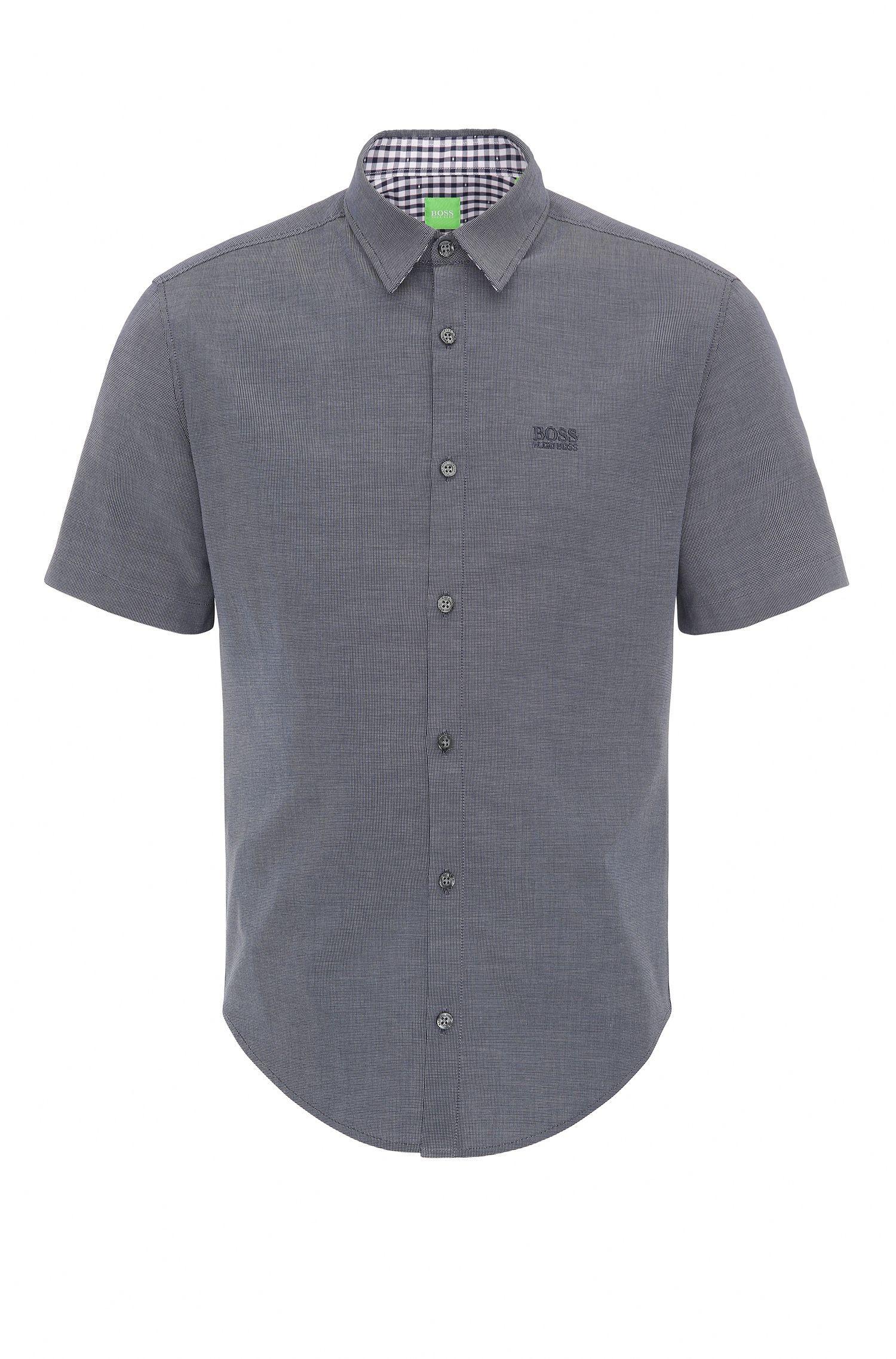 Camisa regular fit de algodón: 'C-Busterino'