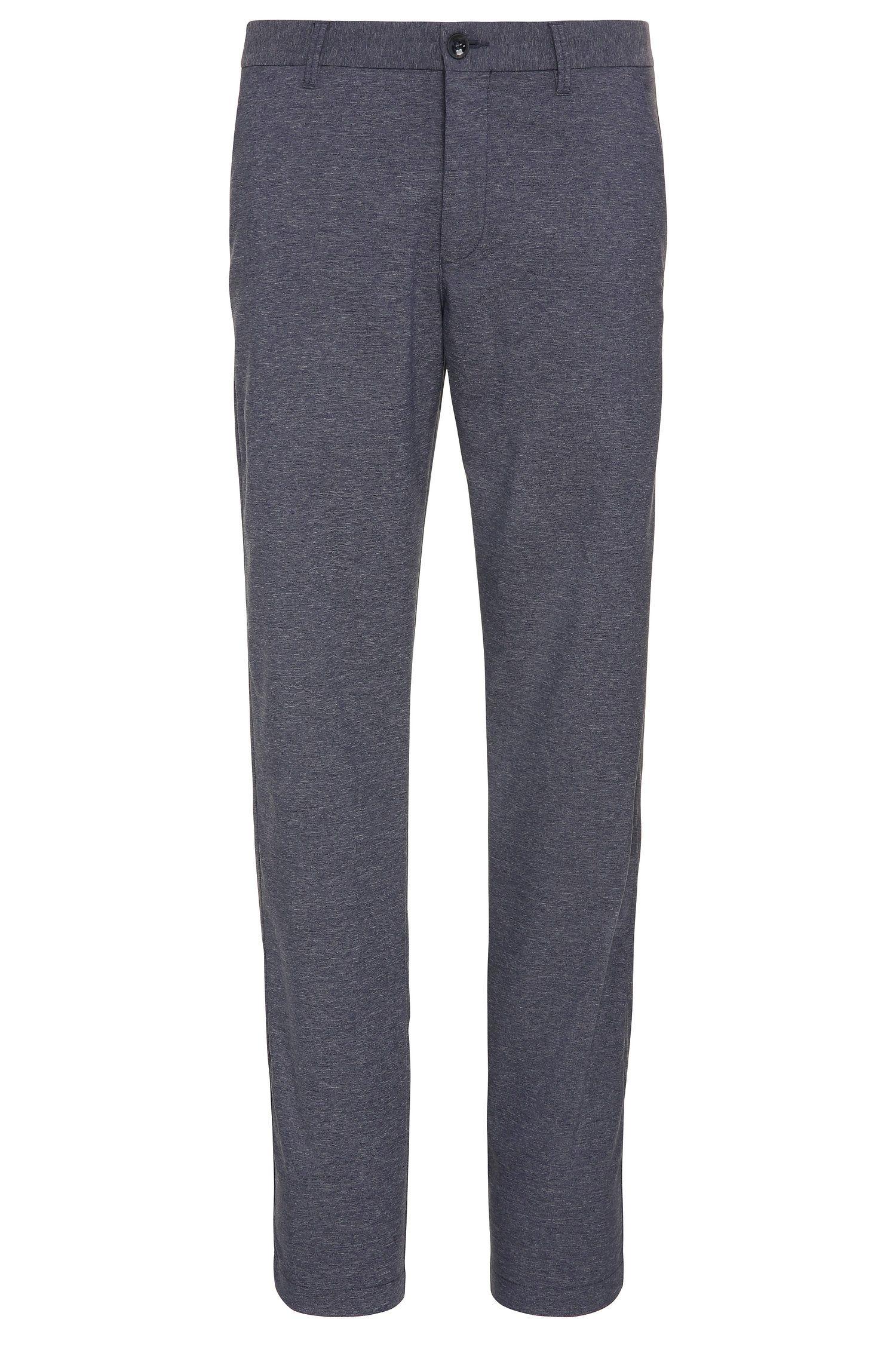 Pantalon de golf Slim Fit en matières extensibles mélangées, à motif chiné: «Hakan-Slim»