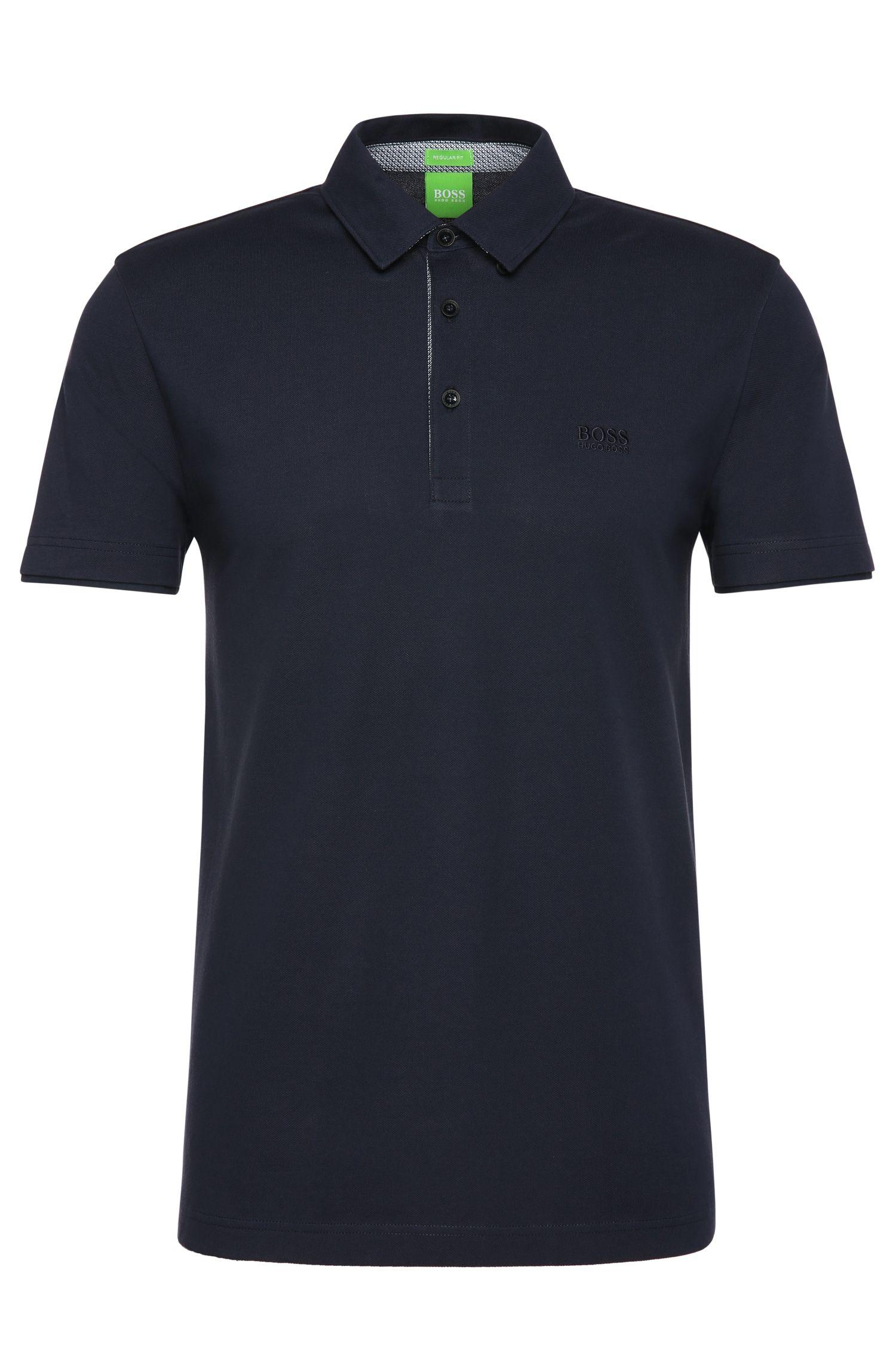 Plain regular-fit polo shirt in cotton: 'C-Panova'
