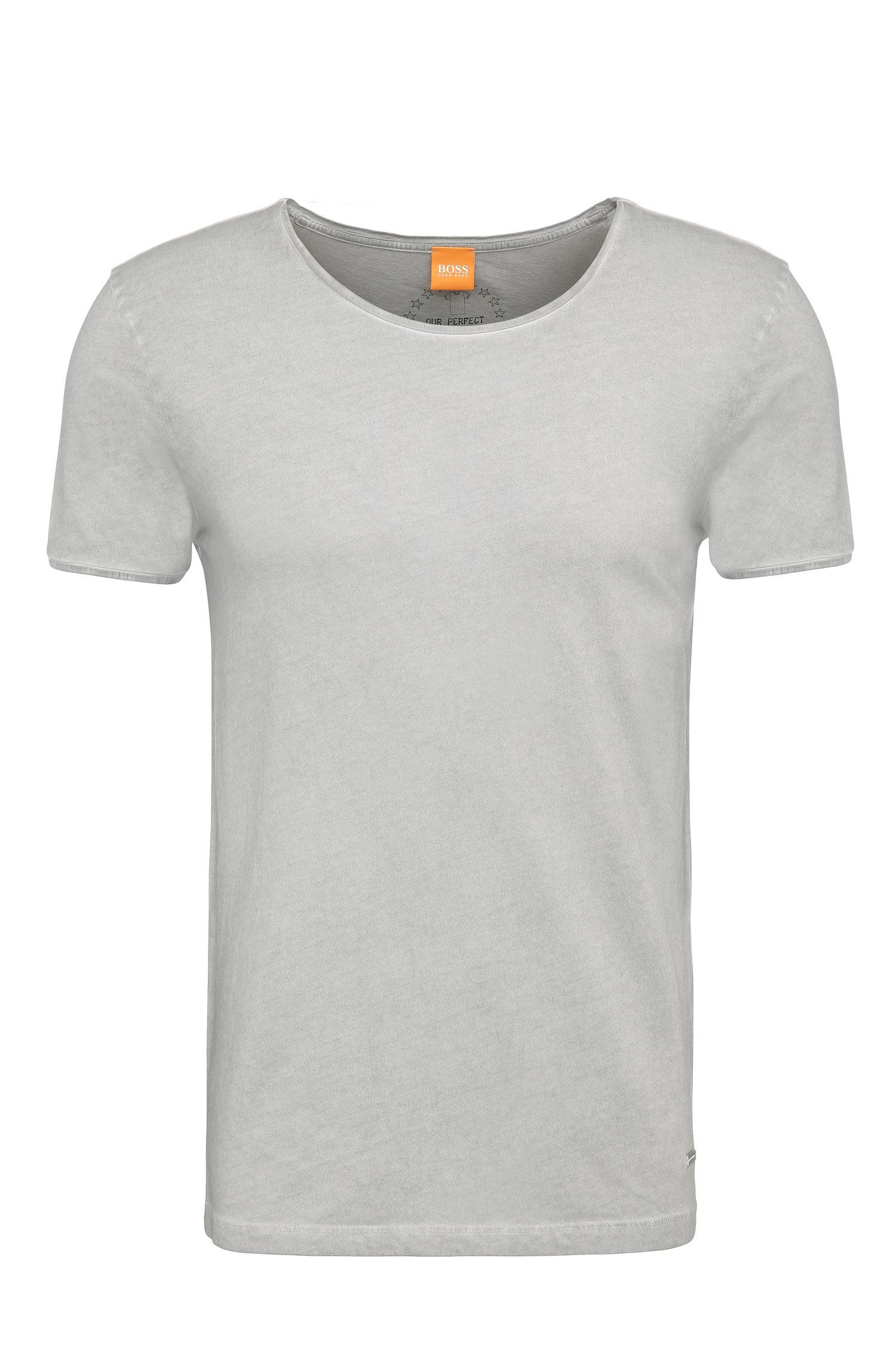 Plain slim-fit t-shirt in cotton: 'Touring'