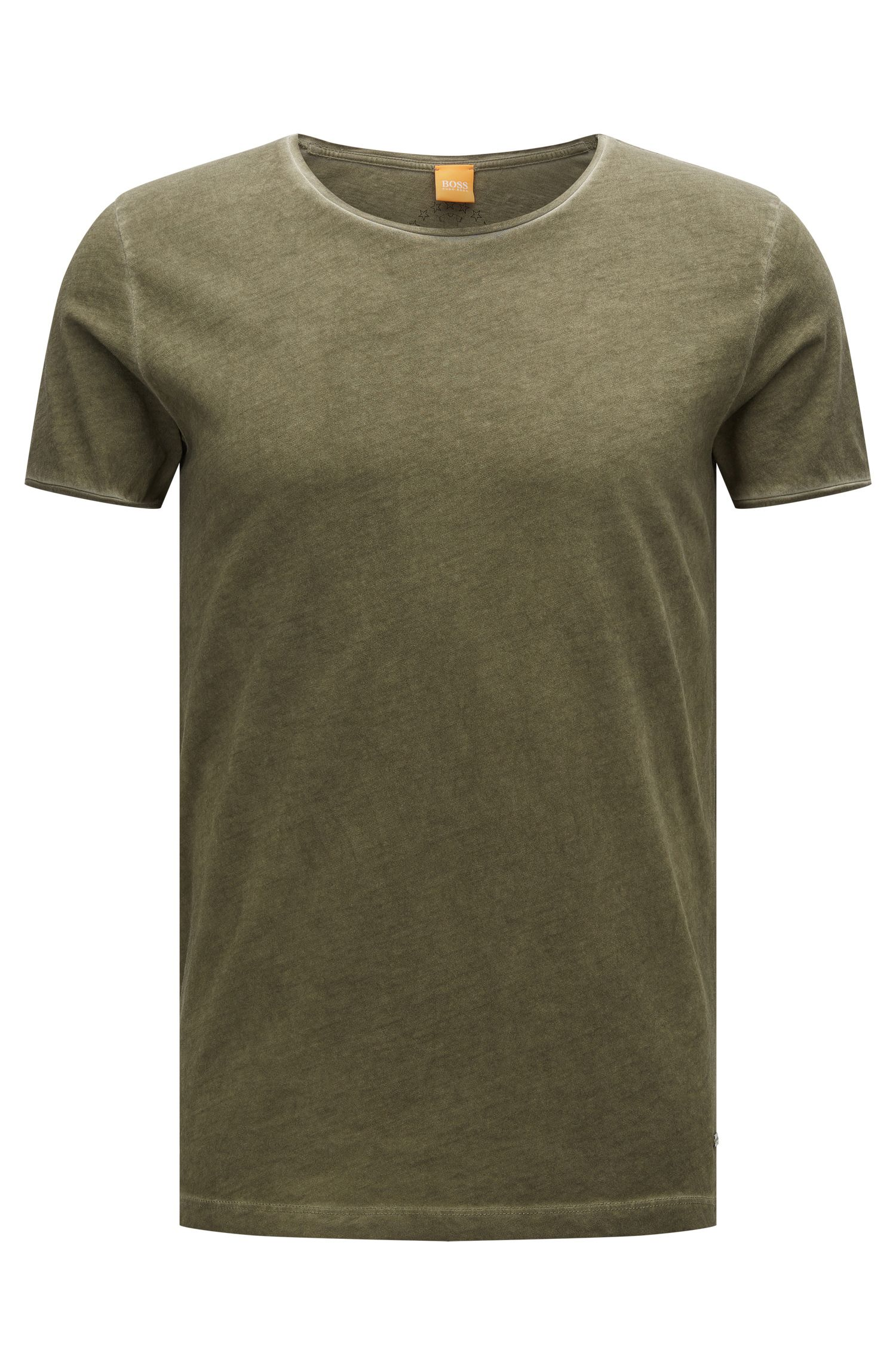 Plain slim-fit t-shirt in cotton: 'Touring'