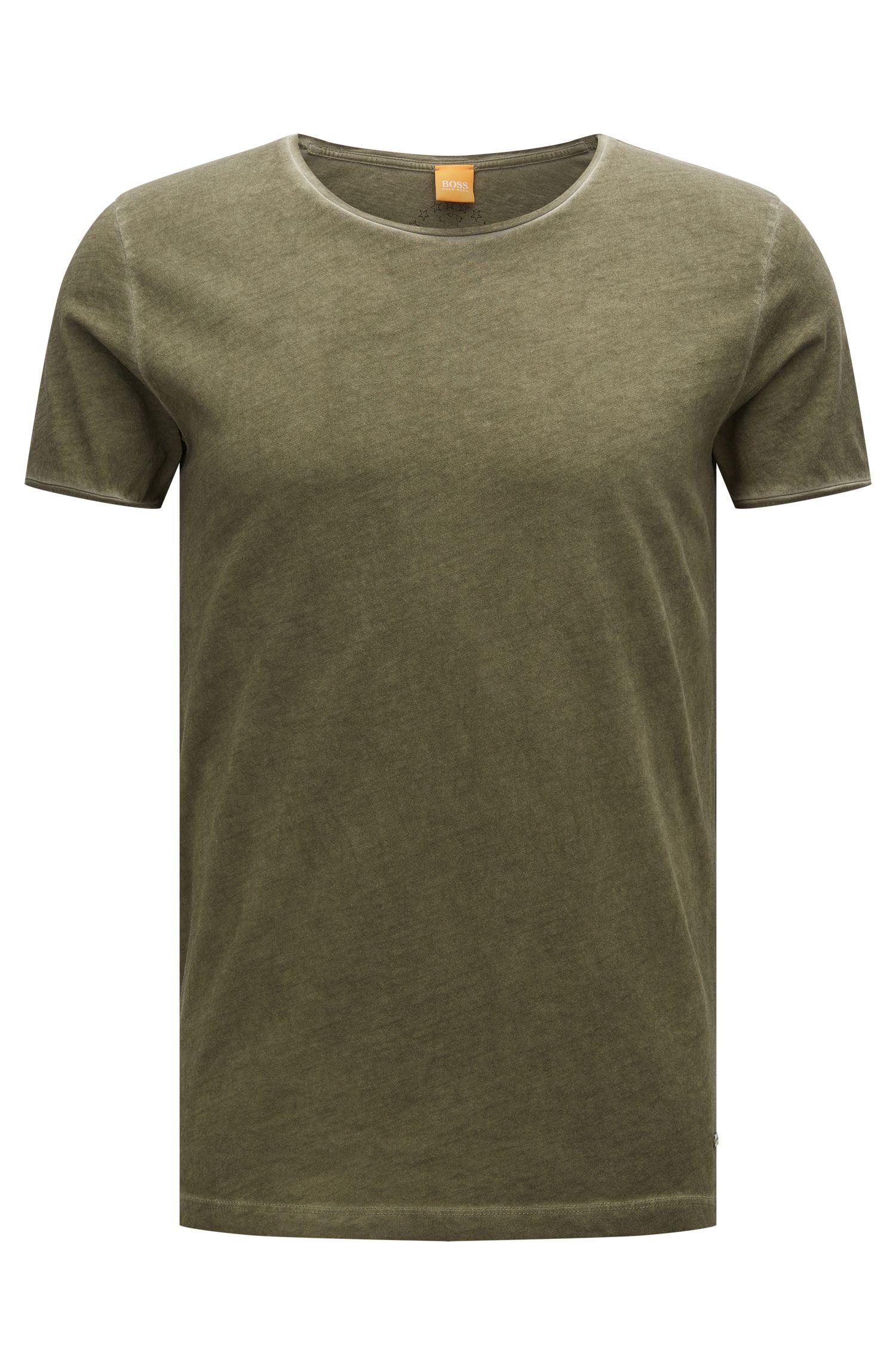 Effen slim-fit T-shirt van katoen: 'Touring'