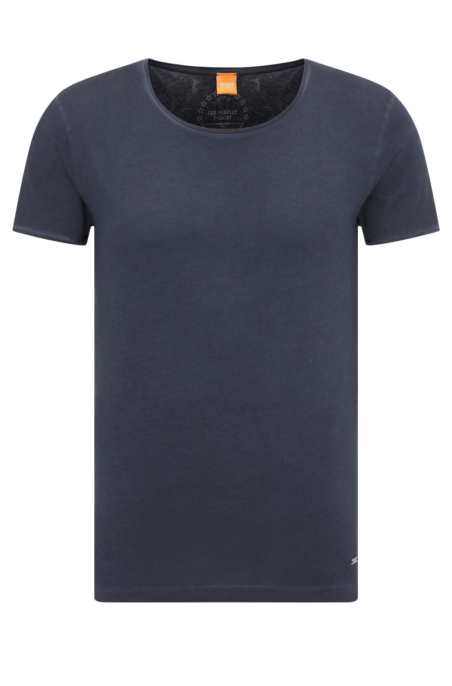 Unifarbenes Slim-Fit T-Shirt aus Baumwolle: ´Touring`