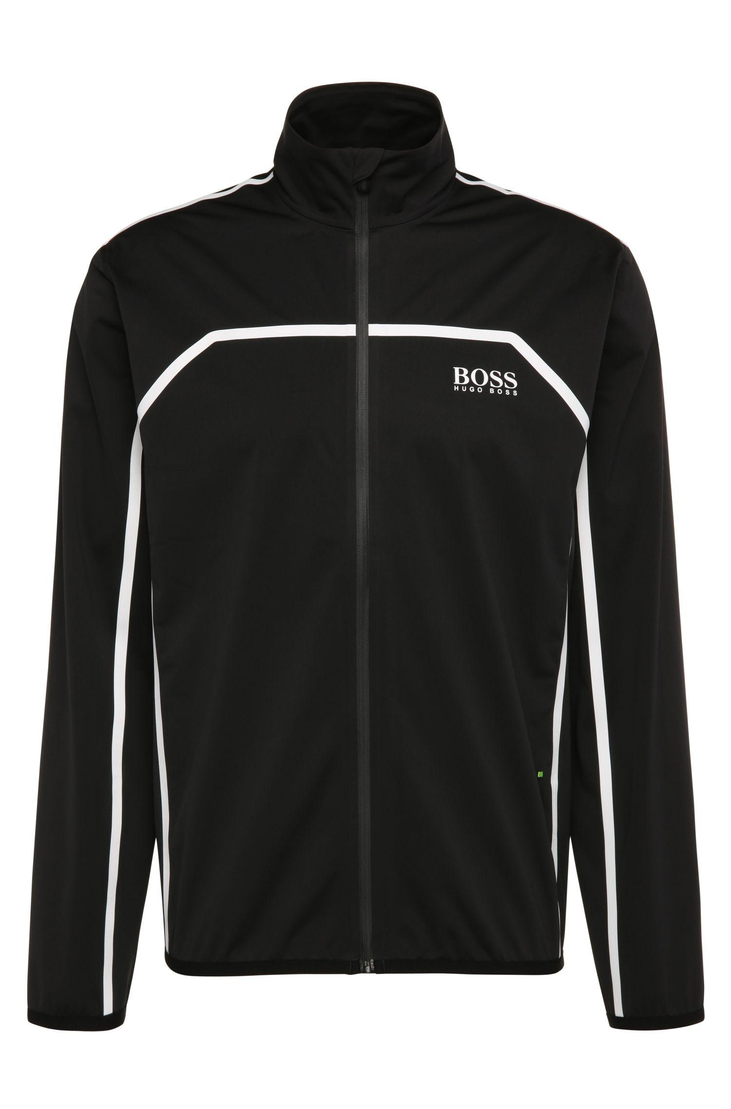 Regular-fit jas van een materiaalmix met strepen: 'Swind Pro'