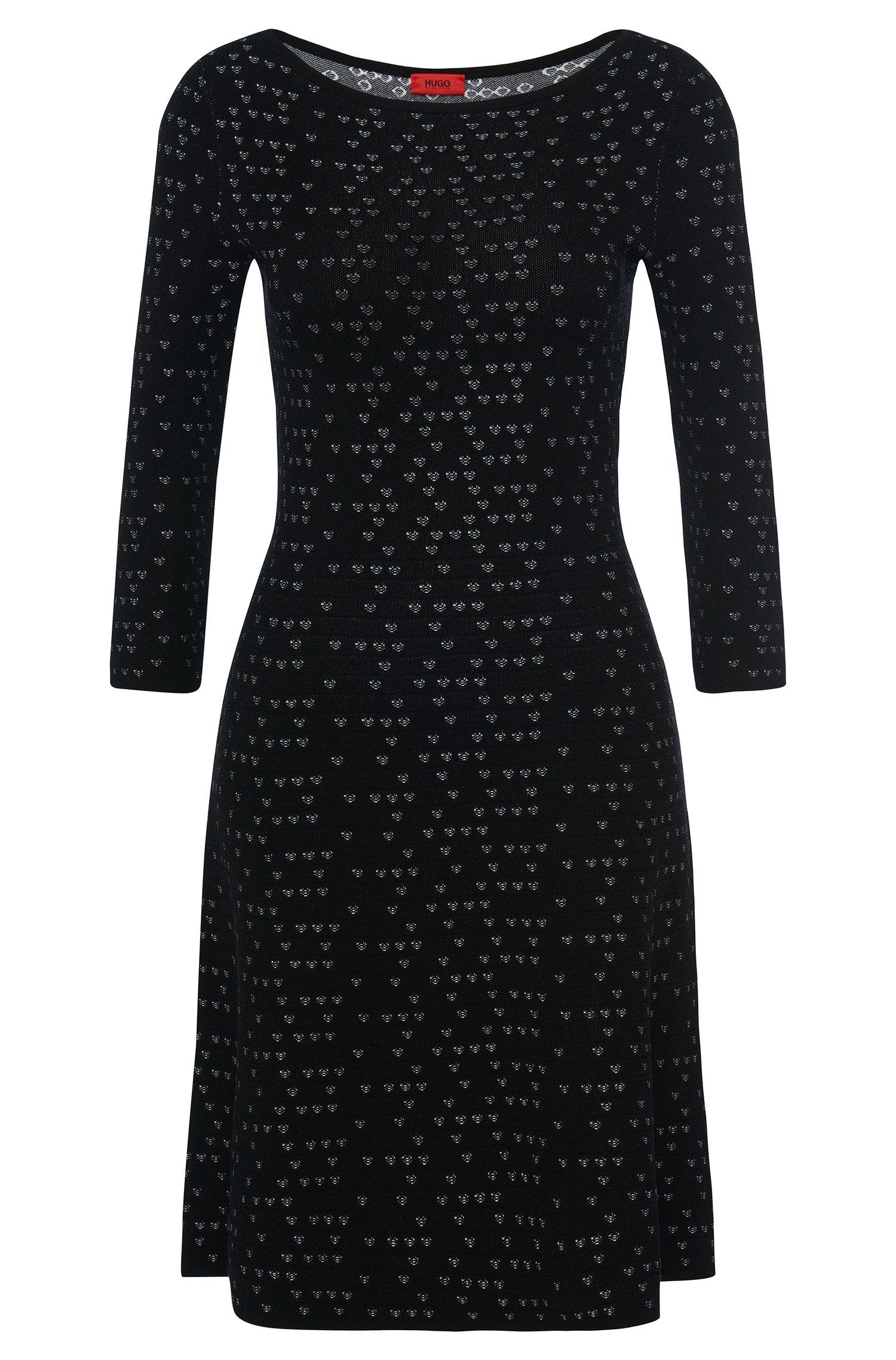 Vestido de punto estampado en mezcla de viscosa: 'Serita'