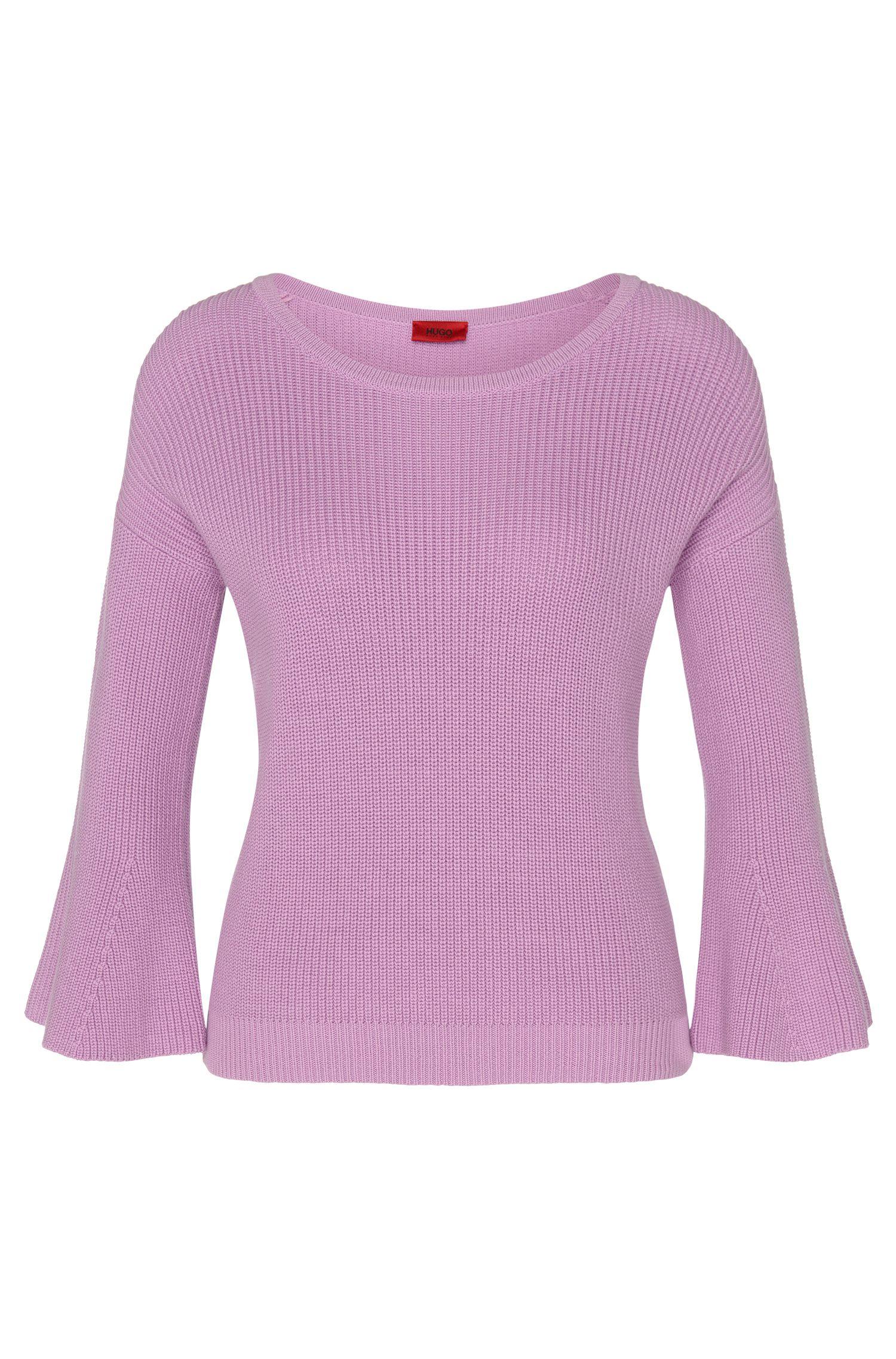 Pullover aus Baumwolle mit Trompeten-Ärmeln: 'Stephanie'