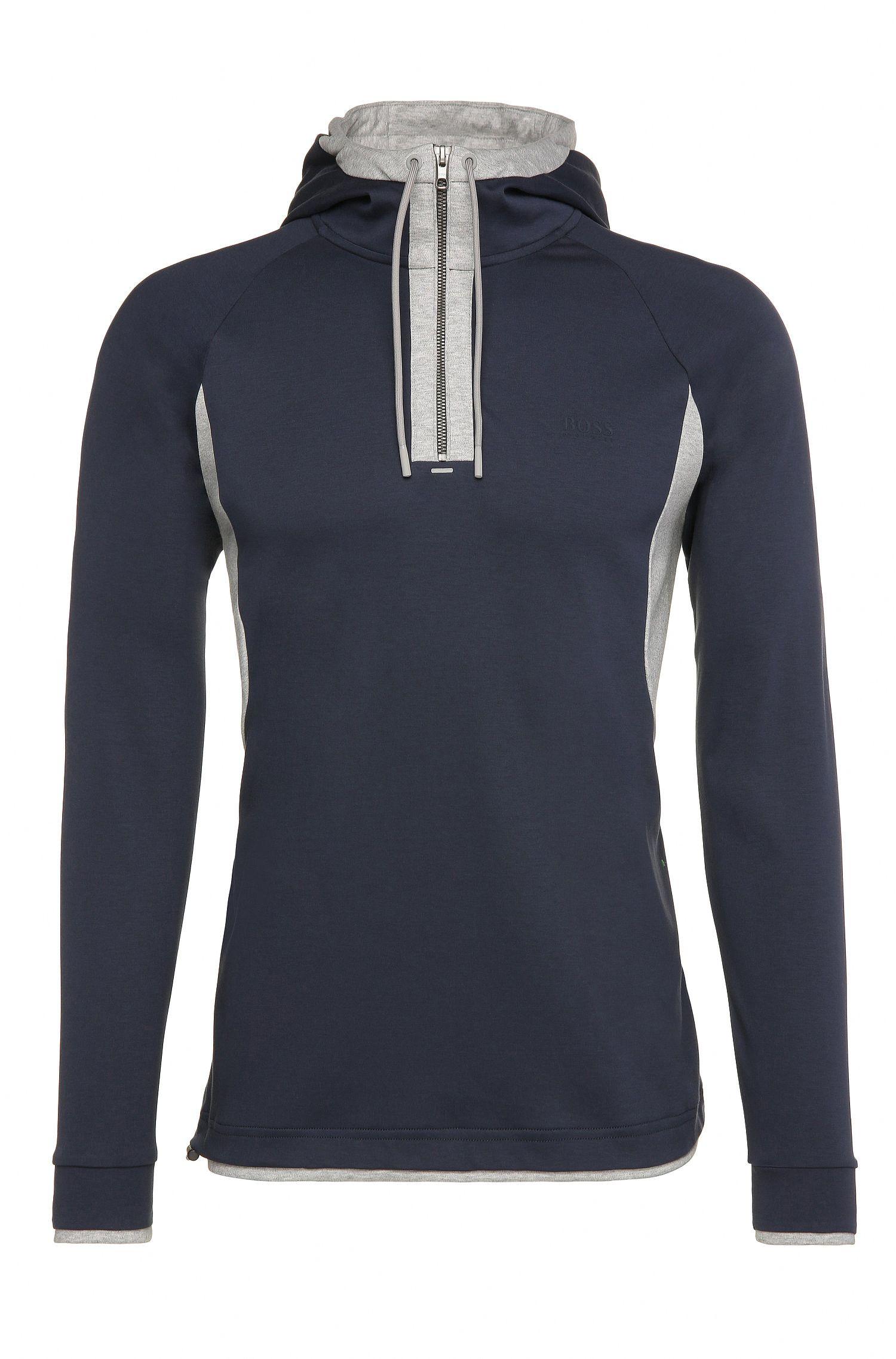 Regular-fit sweatshirt van katoen met capuchon: 'Sanvar'