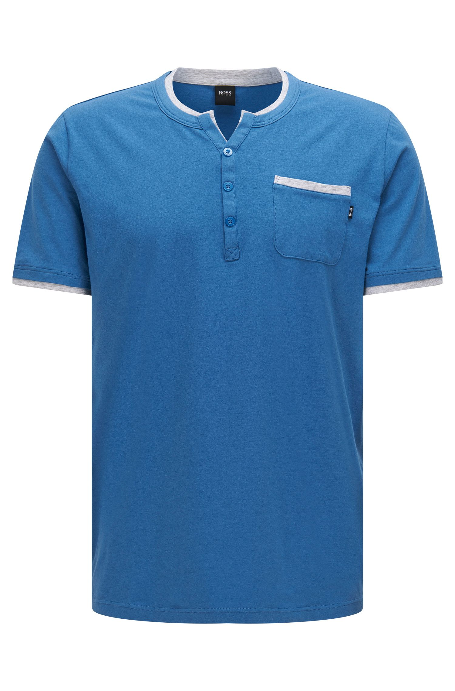 Pyjama t-shirt in stretch cotton blend with modal: 'T-Shirt BP'
