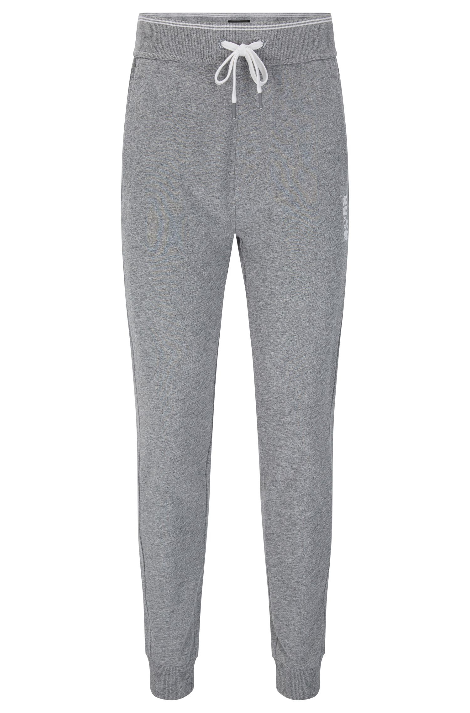 Tracksuit bottoms in cotton with ribbed cuffs: 'Long Pant Cuffs'