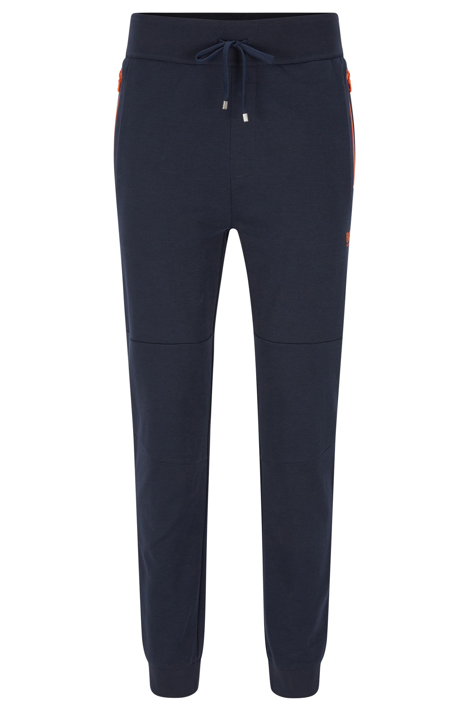 Tracksuit bottoms in cotton blend with contrasting colour zips: 'Long Pant Cuffs'