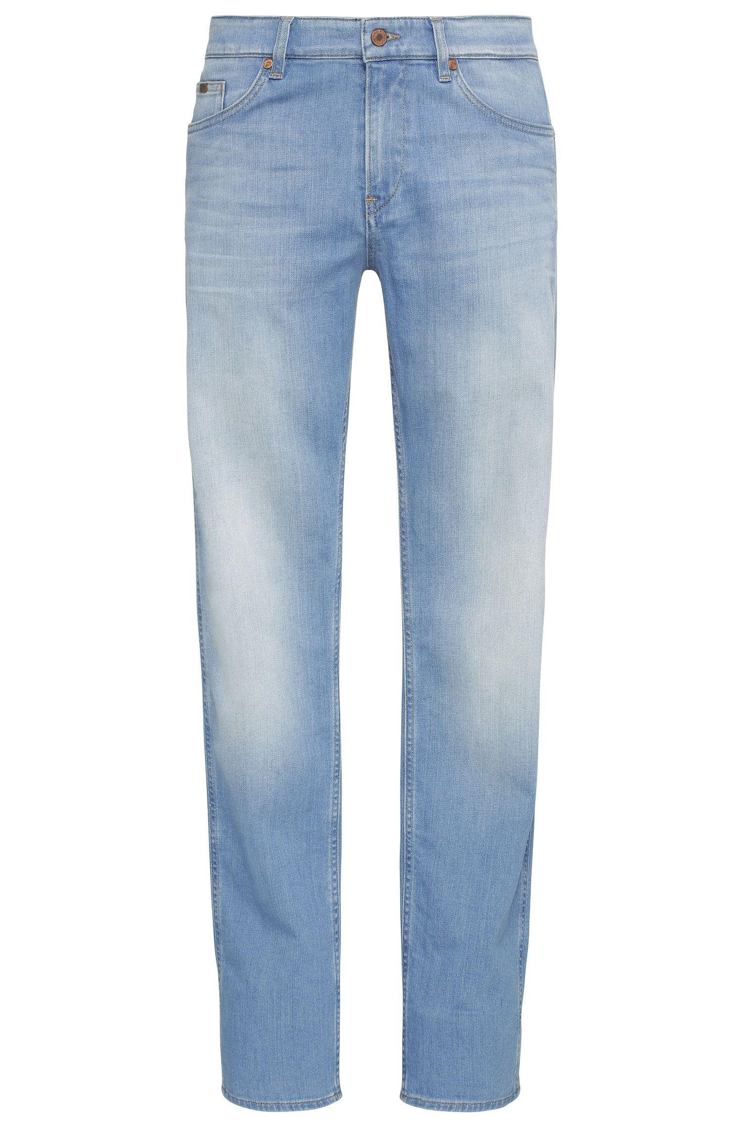 Verwassen slim-fit jeans van elastische katoen: 'C-DELAWARE1'