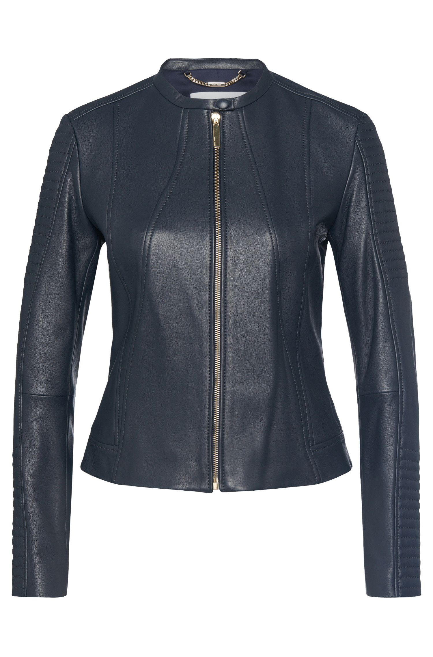 Biker-style leather jacket: 'Saviza'