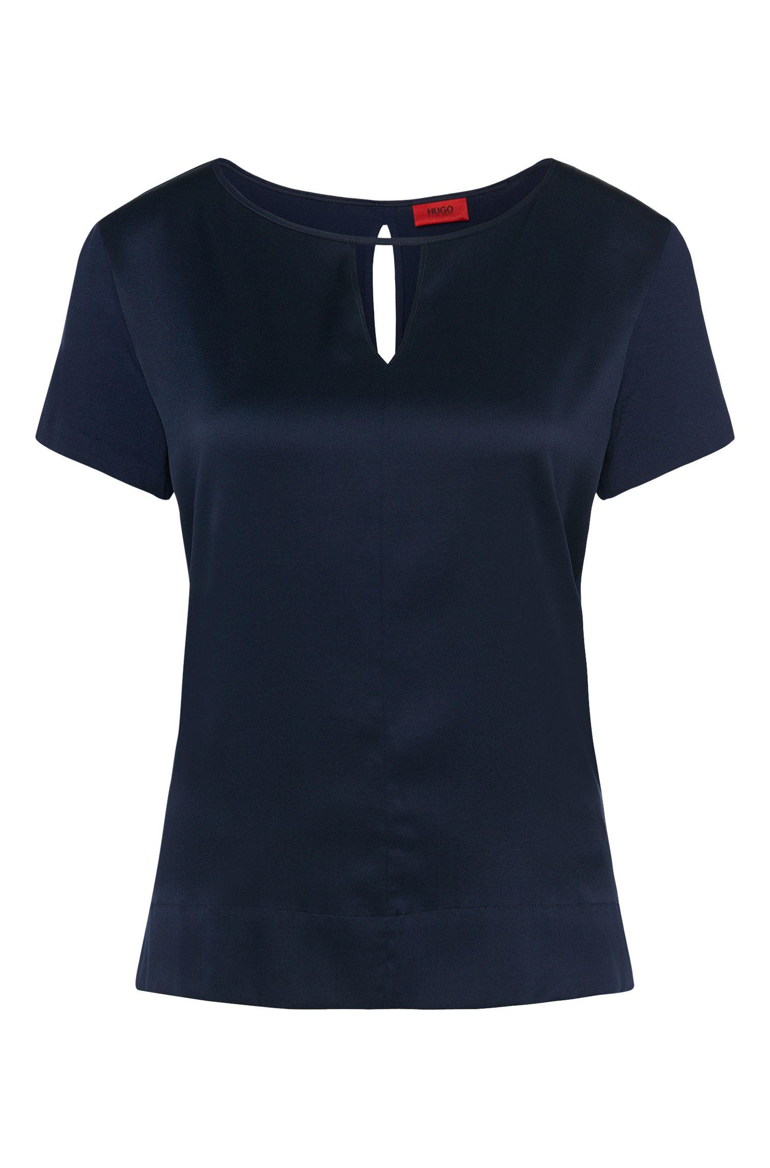 T-Shirt aus elastischer Seide und Stretch-Viskose: 'Niseida'