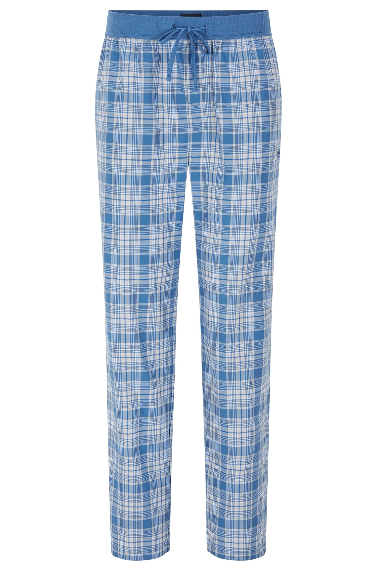 Checked pyjama bottoms in cotton with a drawstring waistband: 'Long Pant CW'