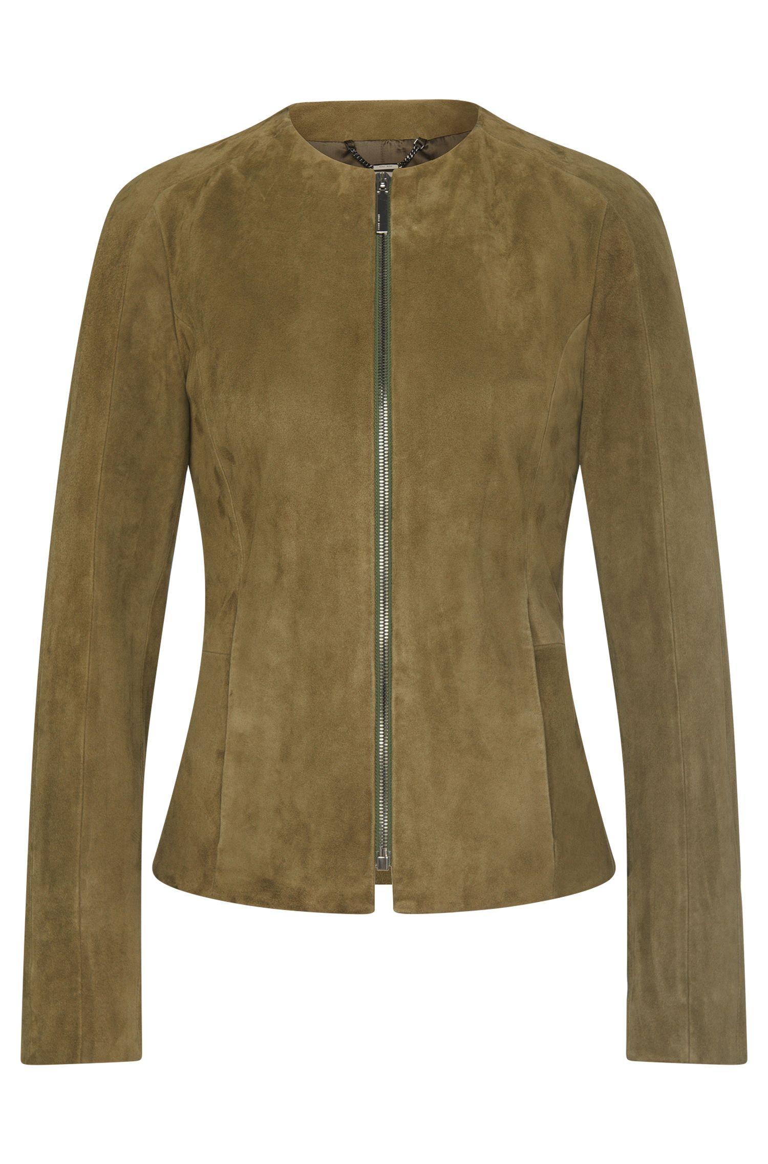 Blouson en cuir orné de zips décoratifs: «Sabio»
