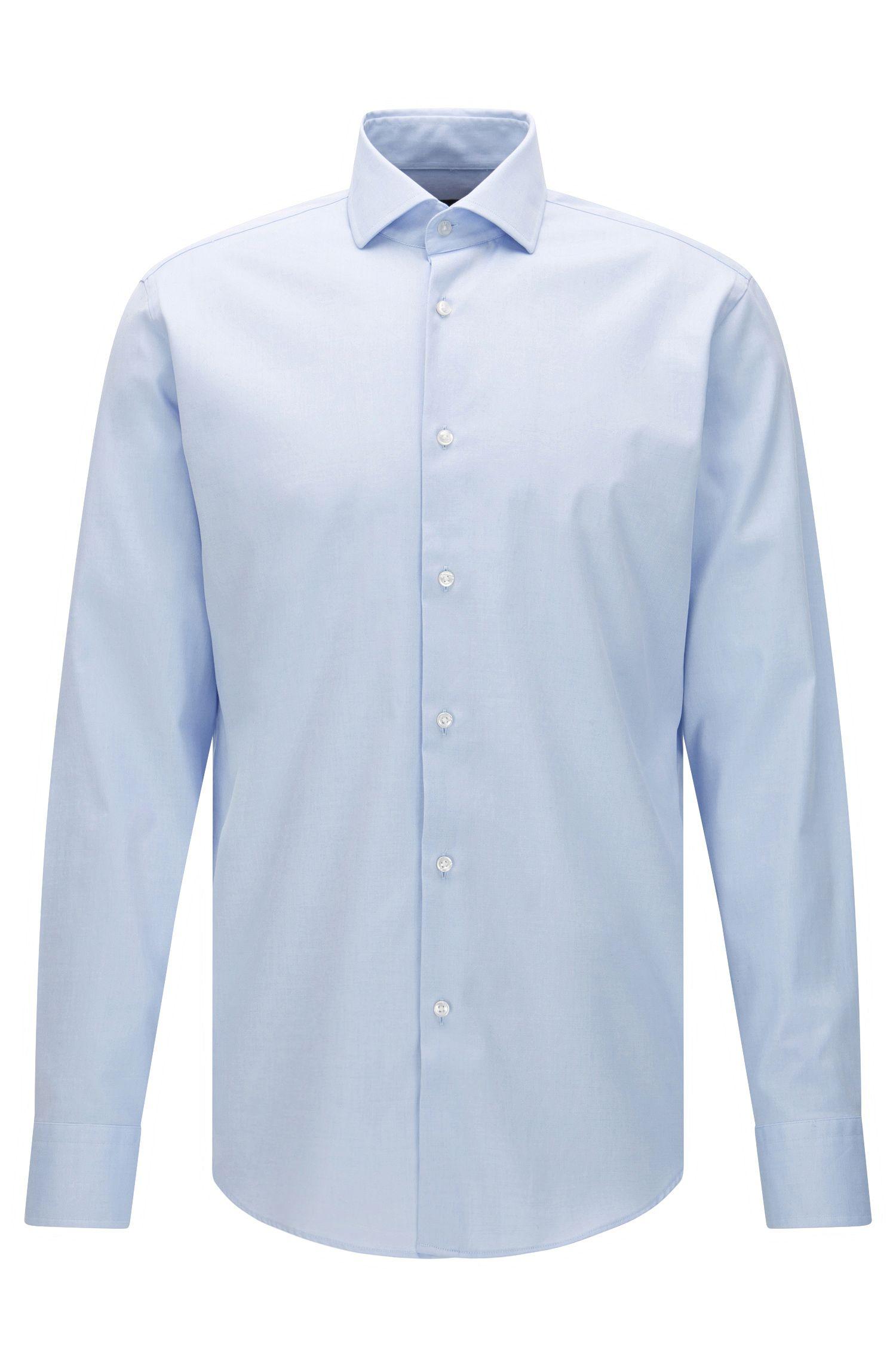 Regular-fit overhemd van katoen uit de Travel Line-collectie: 'Gordon'