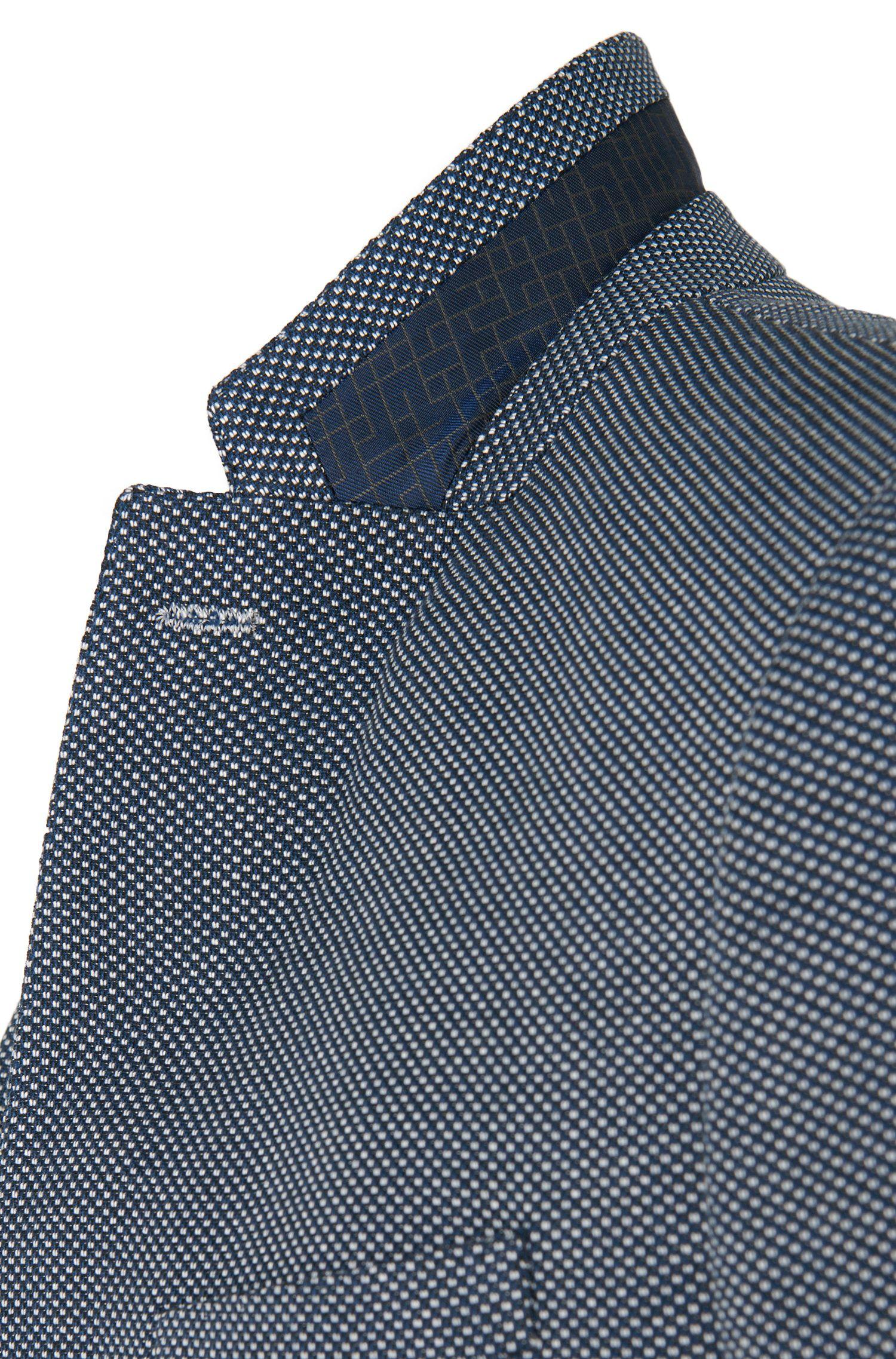 Veste de costume Slim Fit à motif fin en coton mélangé: «C-Hamilton1»